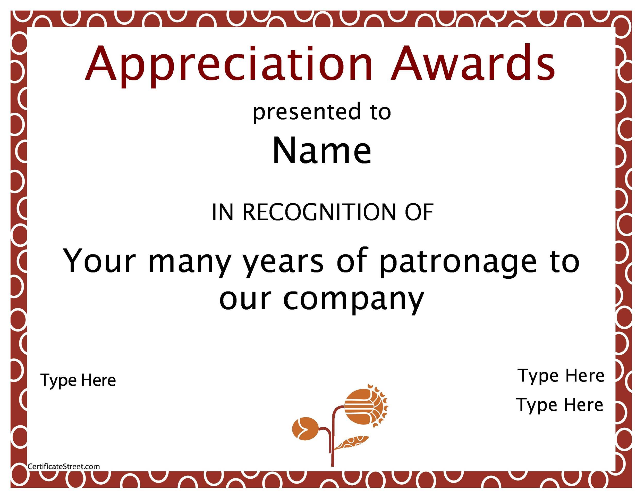 Free Award Template 49