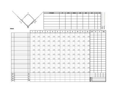 Baseball Scoresheet Templates