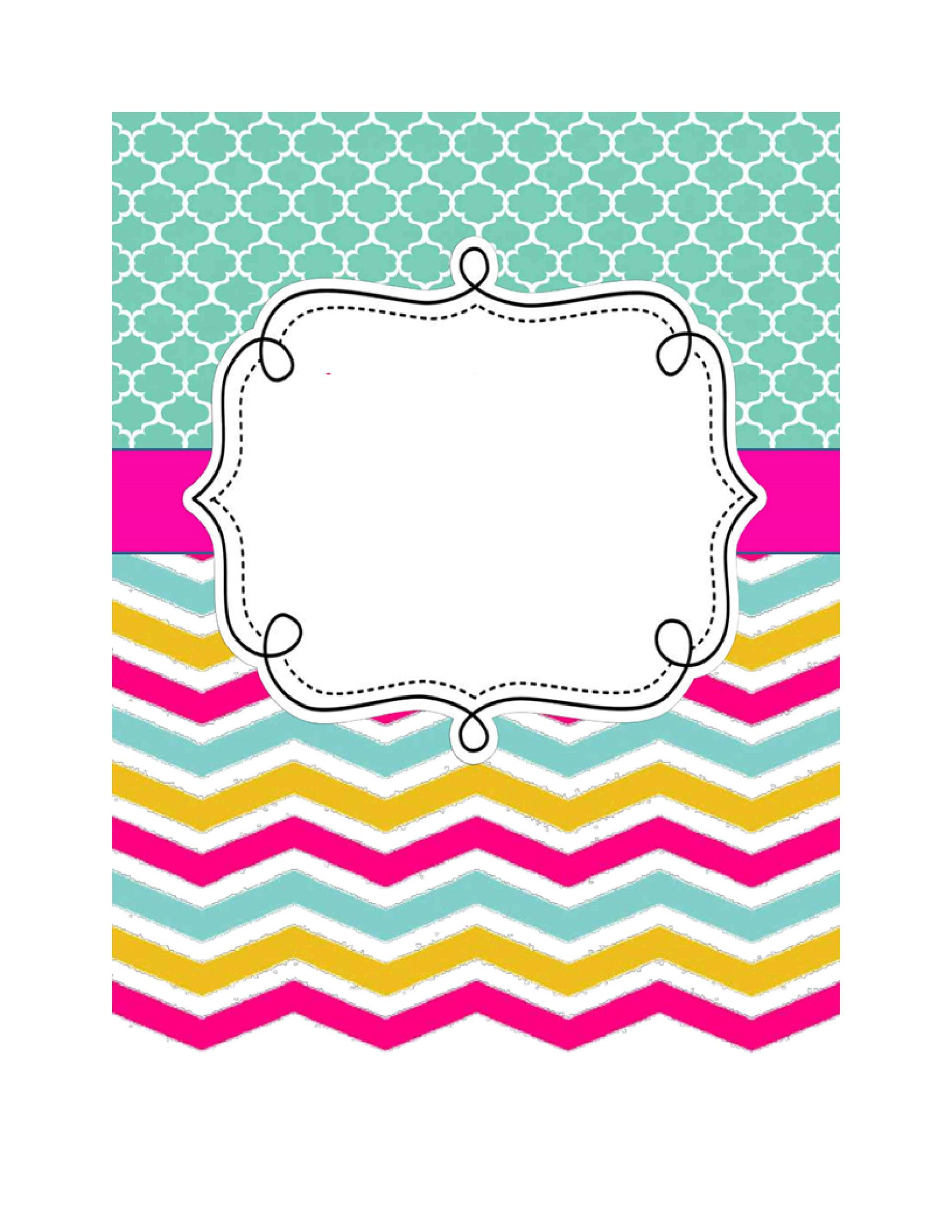 Geeky image with printable binder cover templates