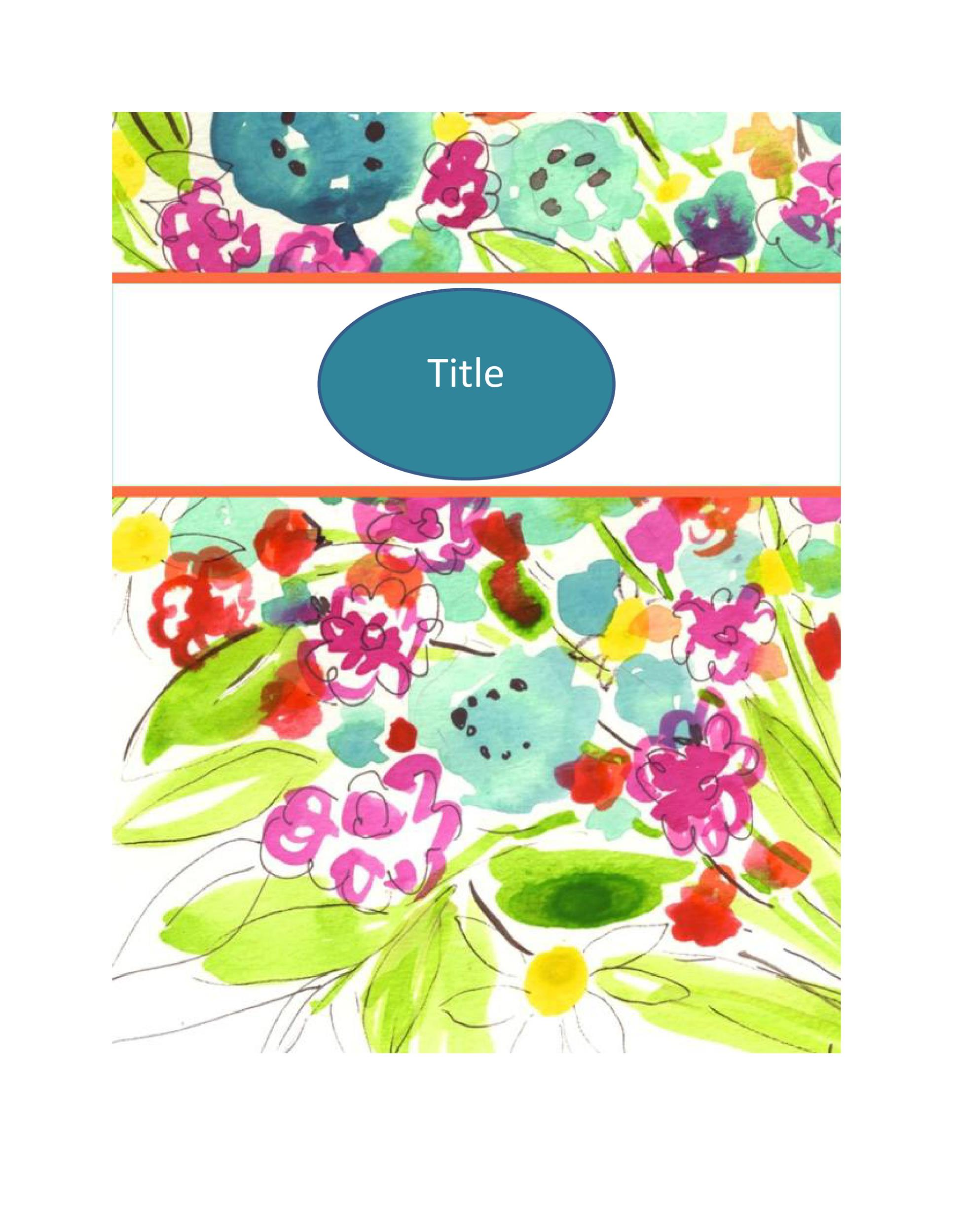 Free Binder Cover Template 18
