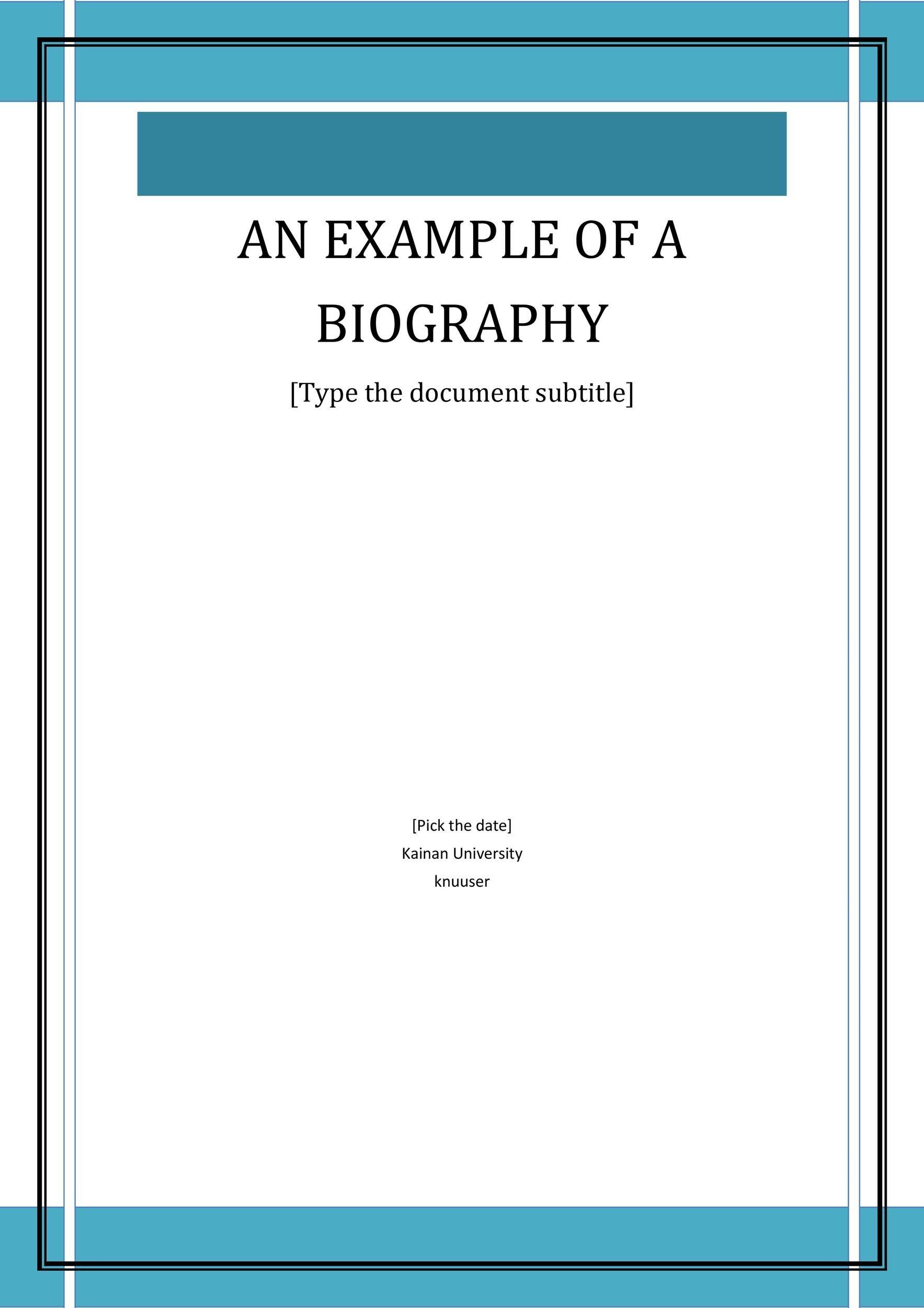 Free Bonus Biography Template 01