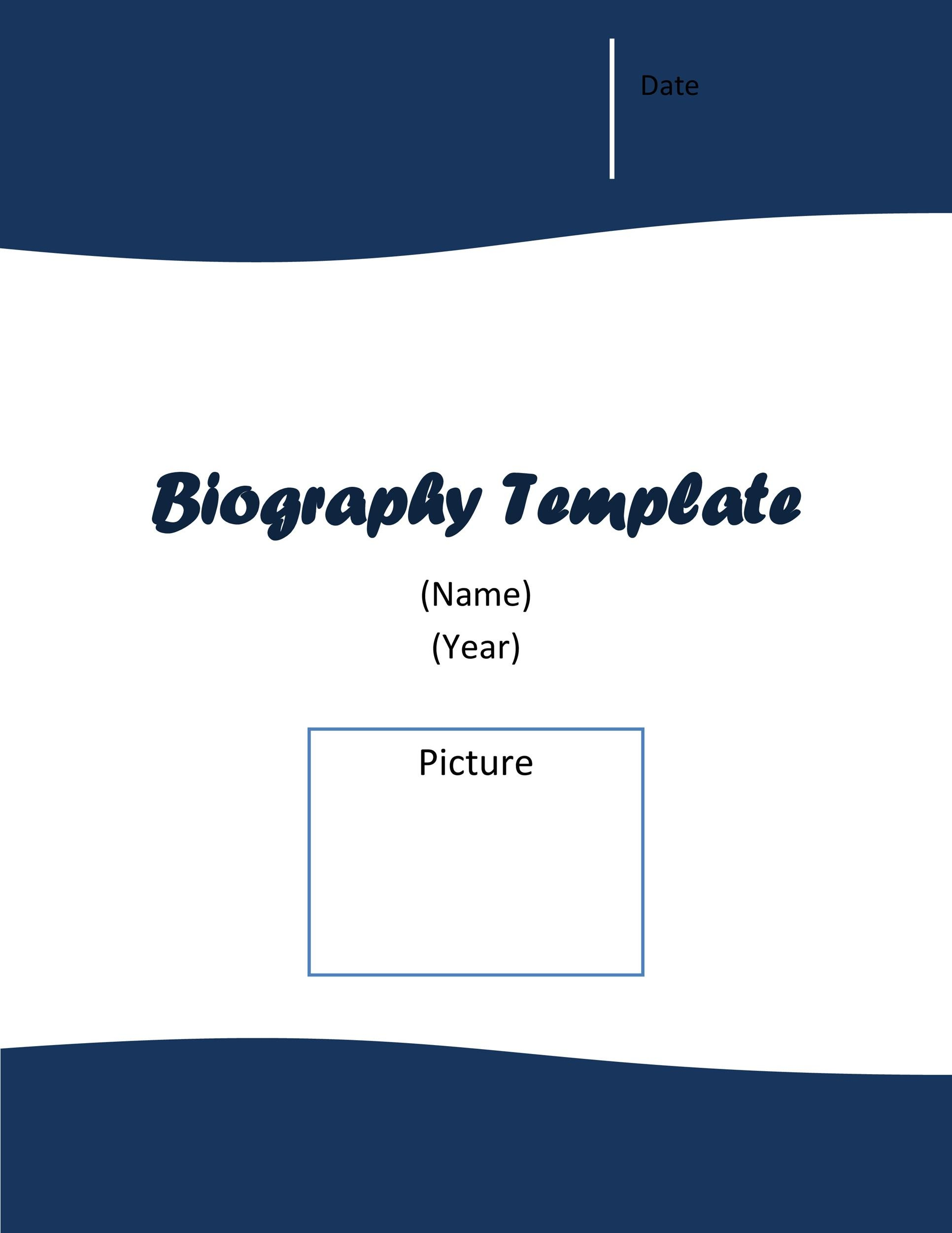 Free Bonus Biography Template 02