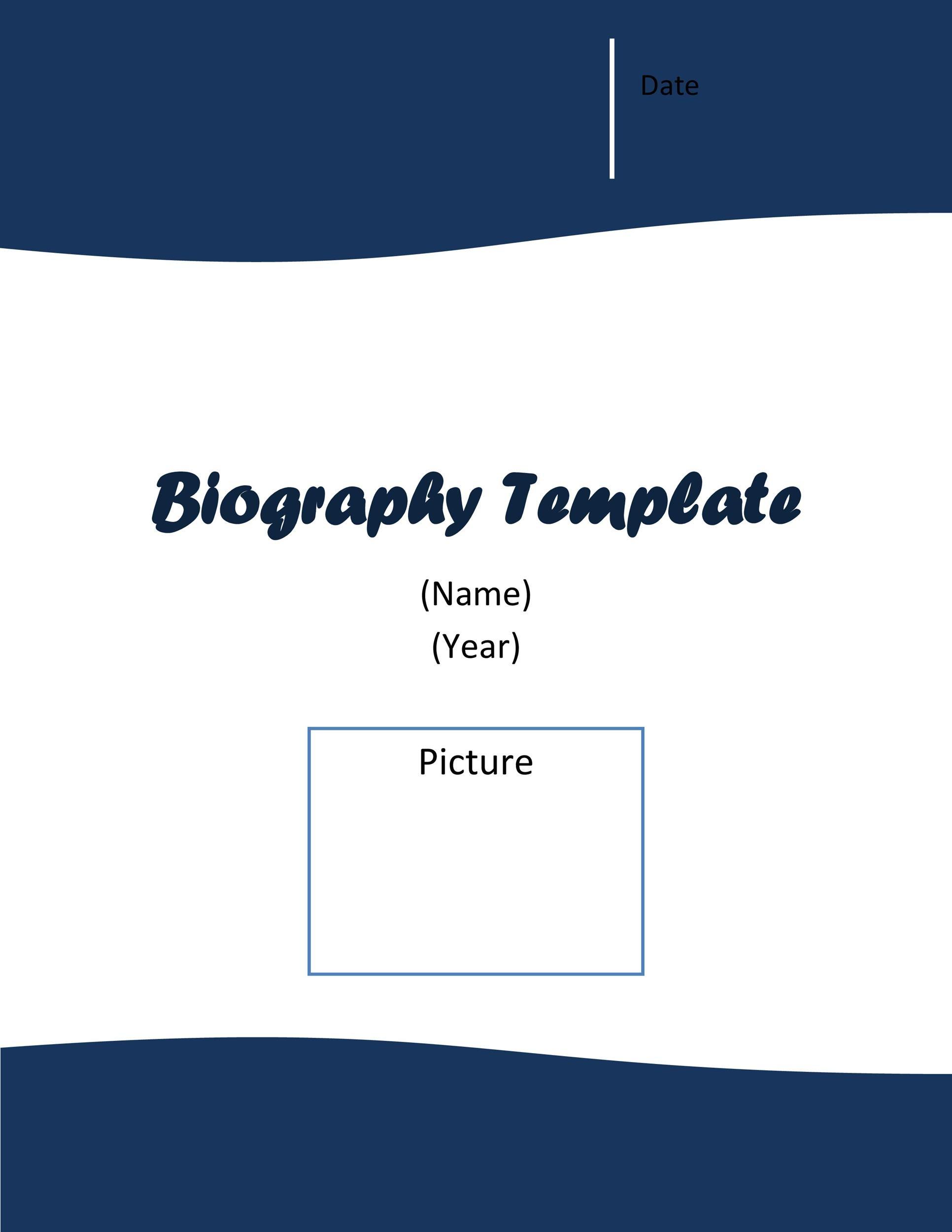 Free Bonus Biography Template 02