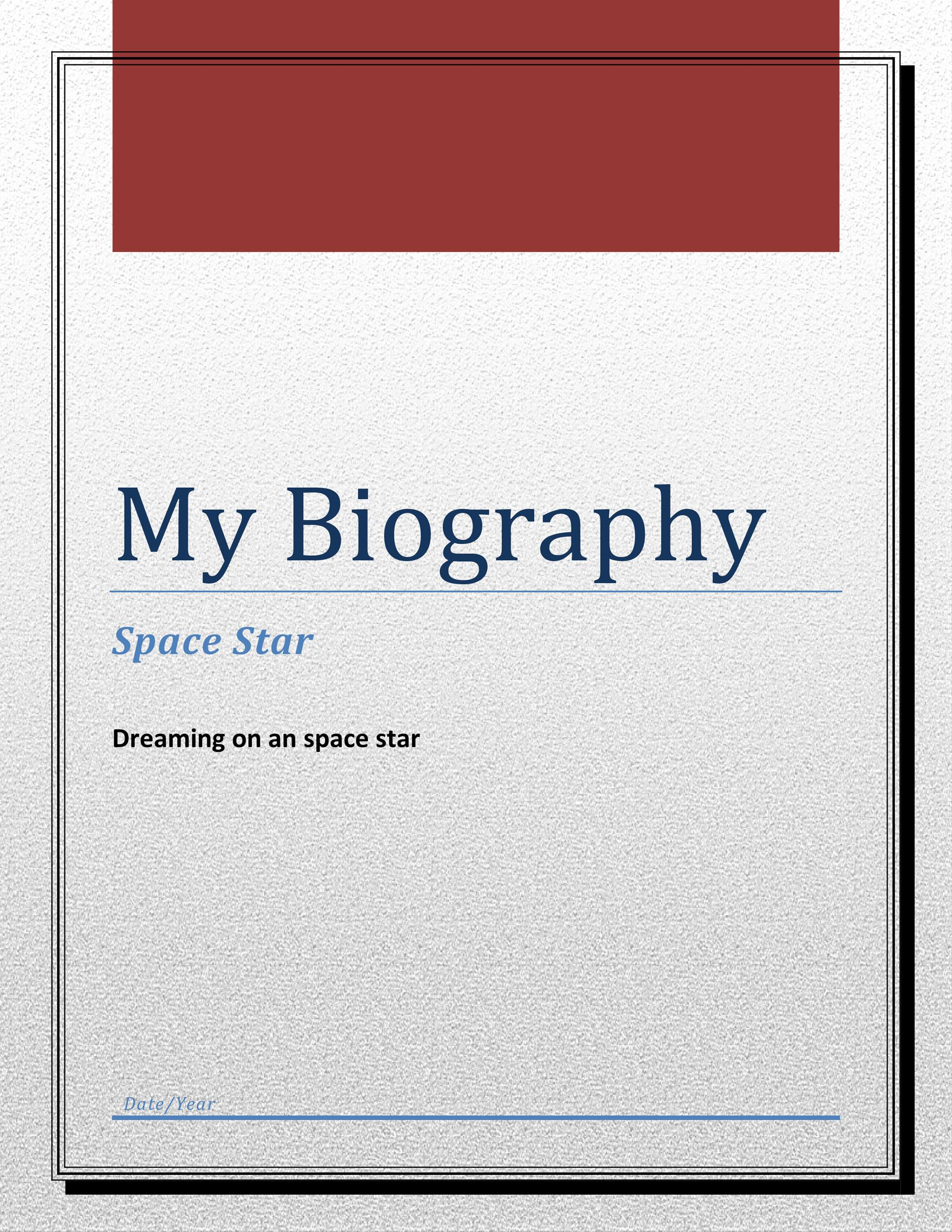 Free Bonus Biography Template 03