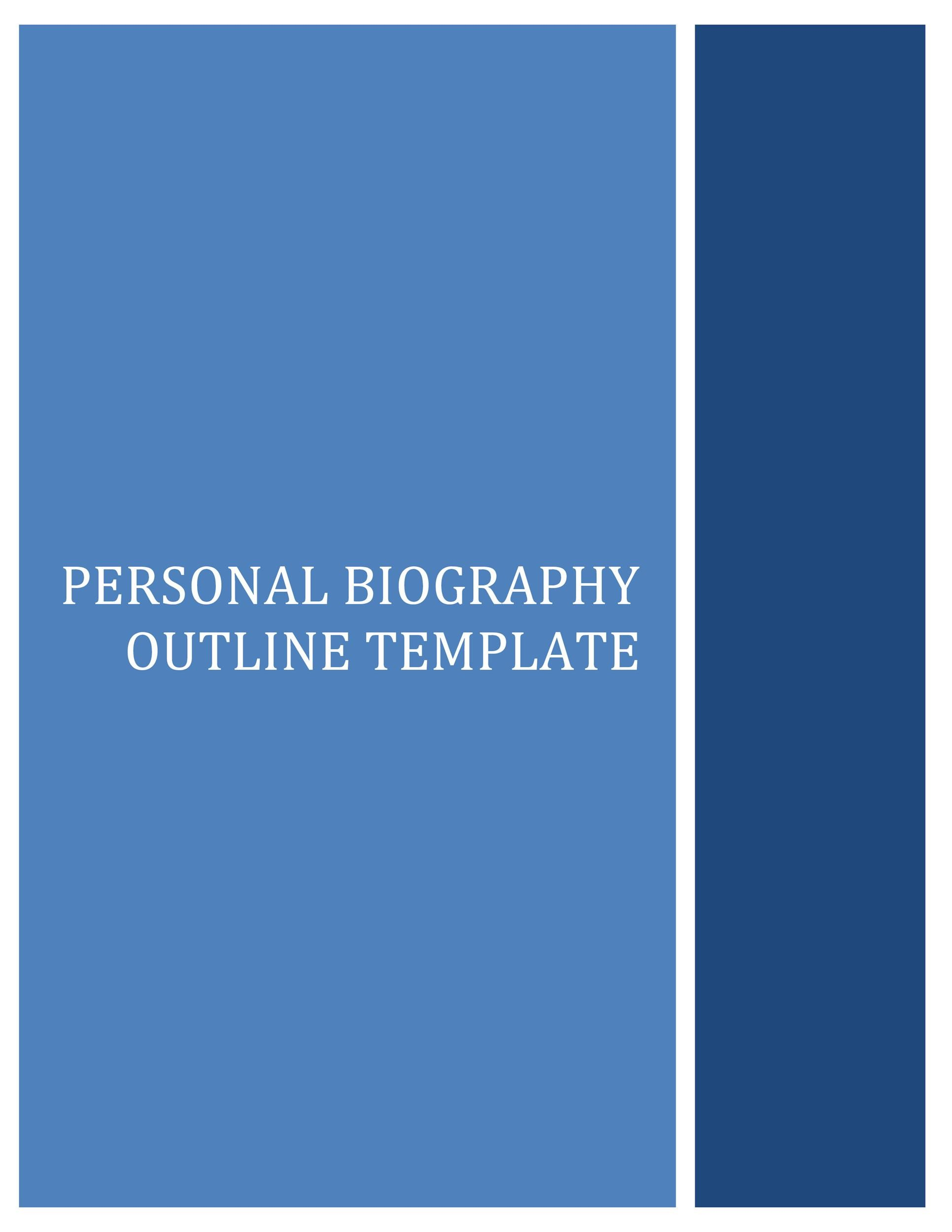 Printable Bonus Biography Template 04  Microsoft Word Biography Template
