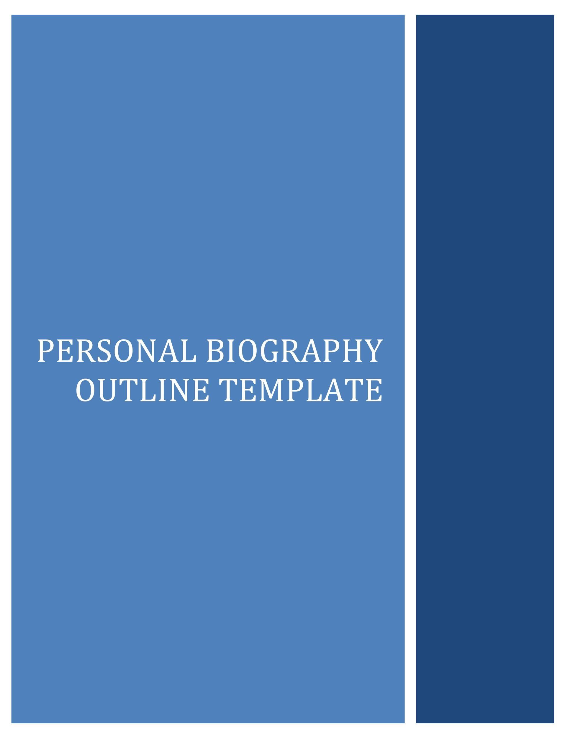 Free Bonus Biography Template 04