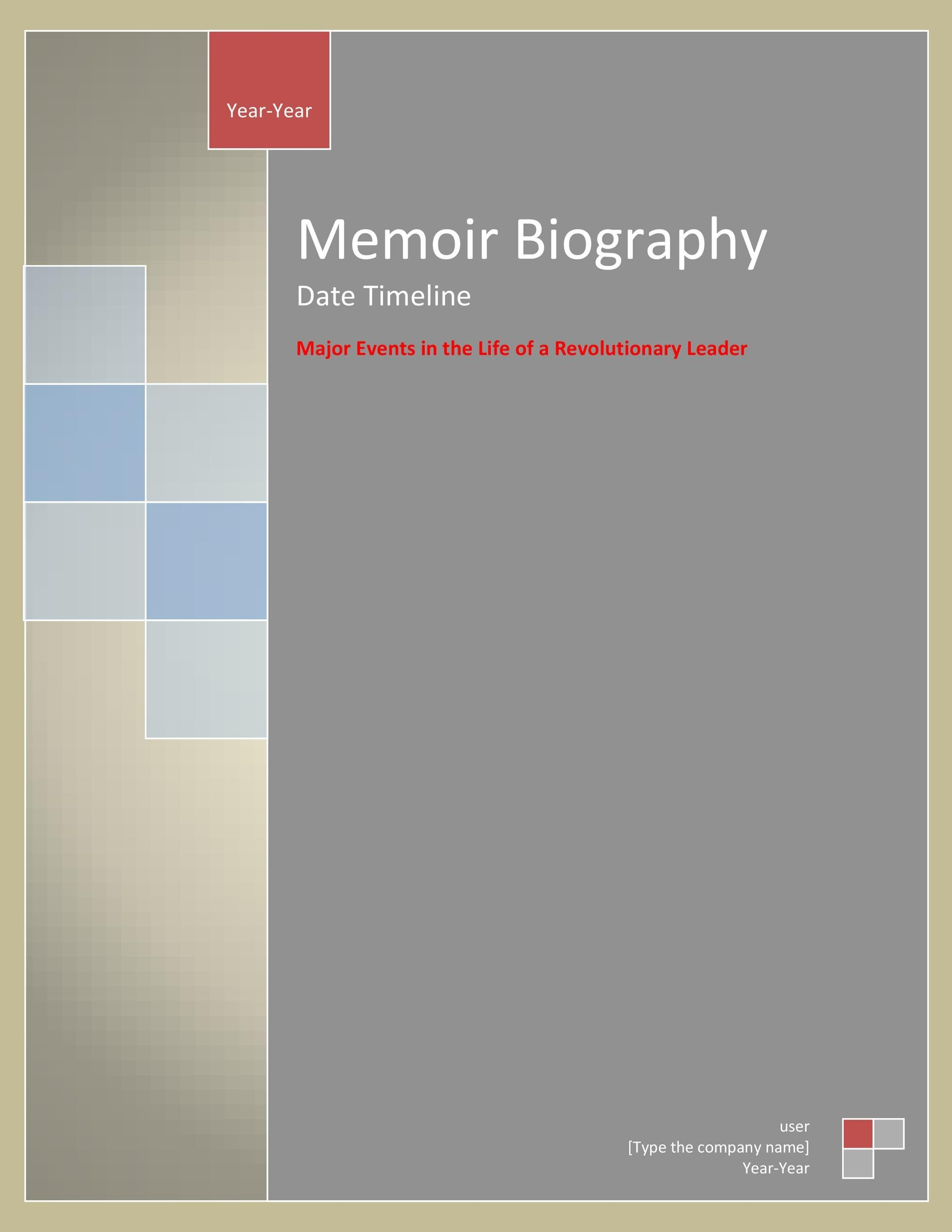 Free Bonus Biography Template 05