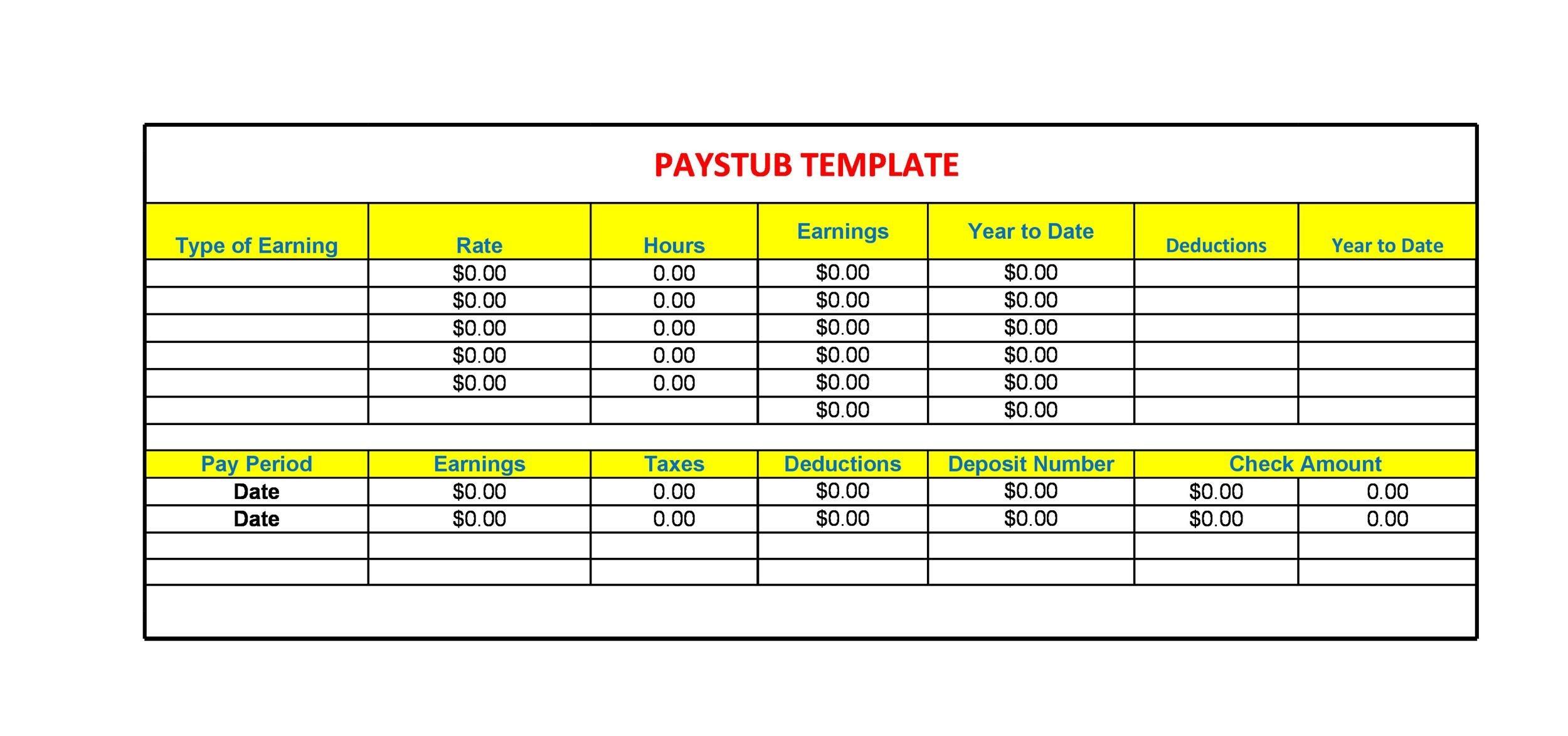 Free Bonus Paystub Template 02