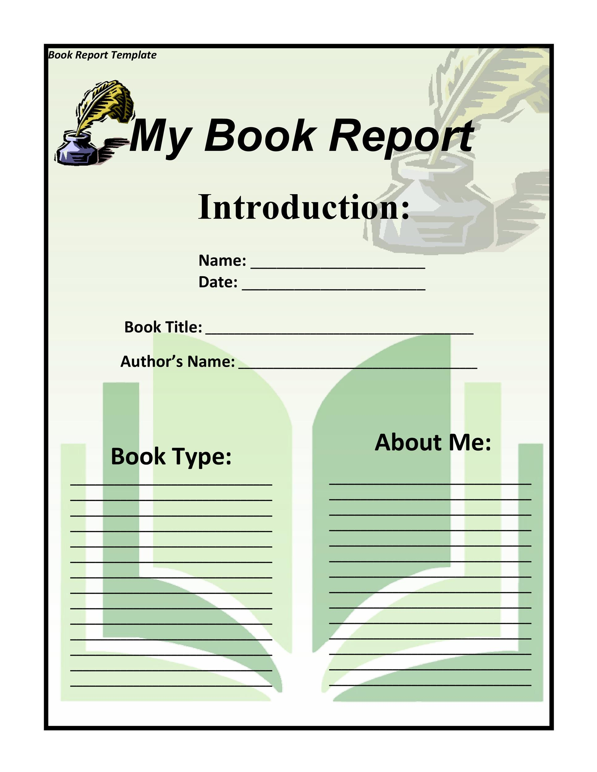 Free Book Report Template 04