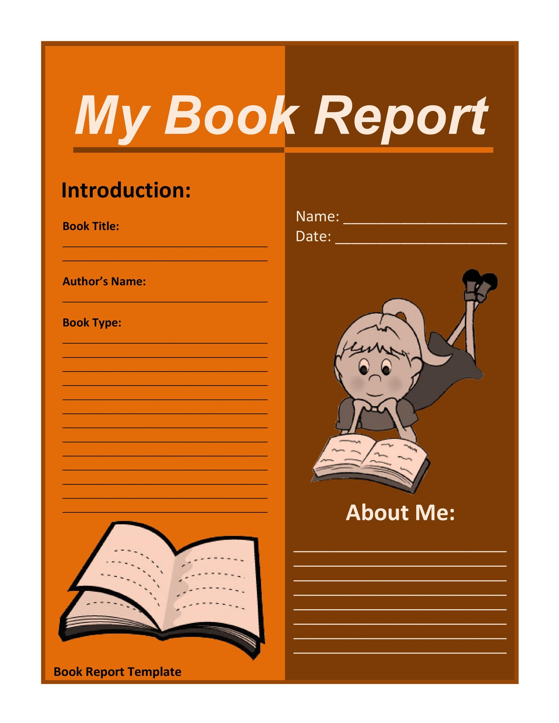 Free Book Report Template 06