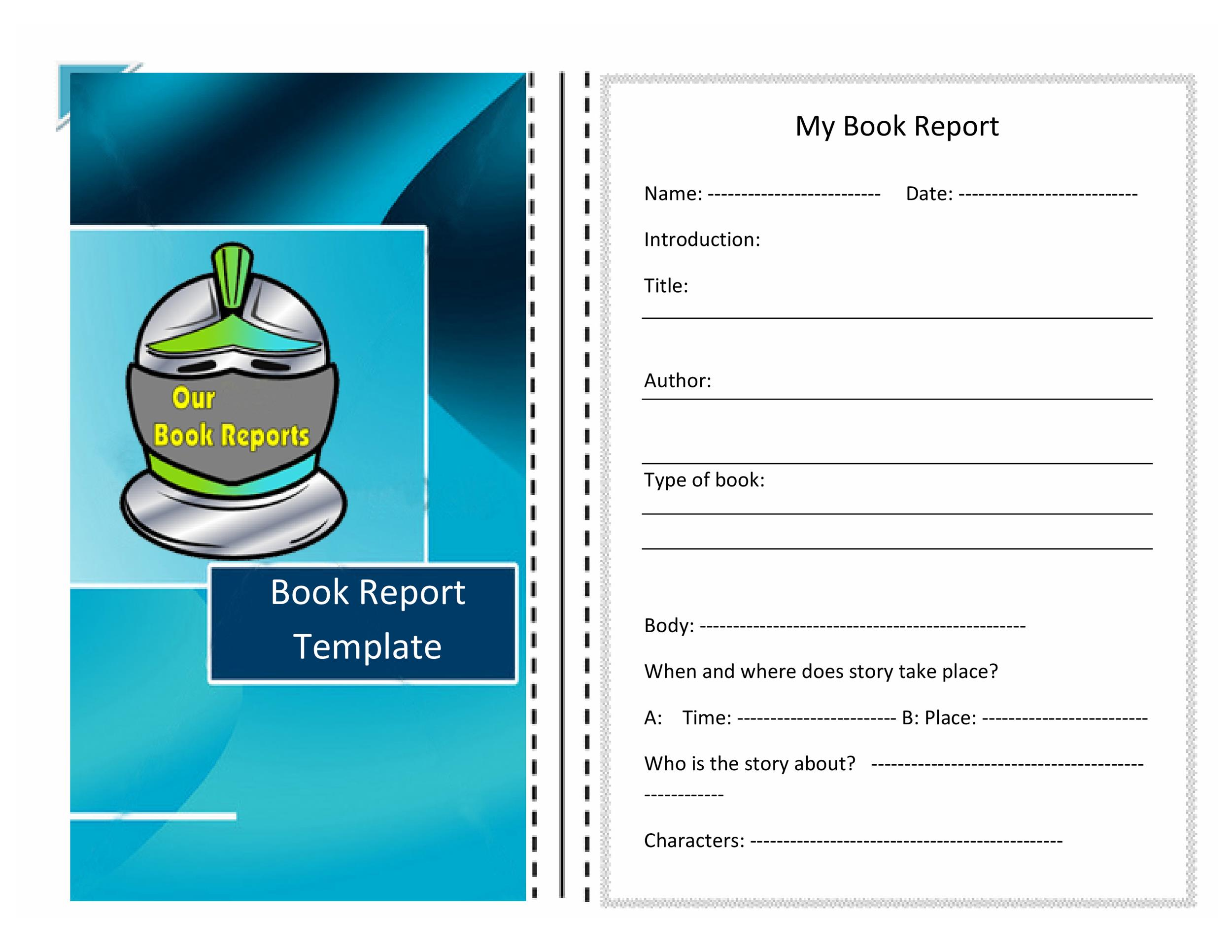 Free Book Report Template 07