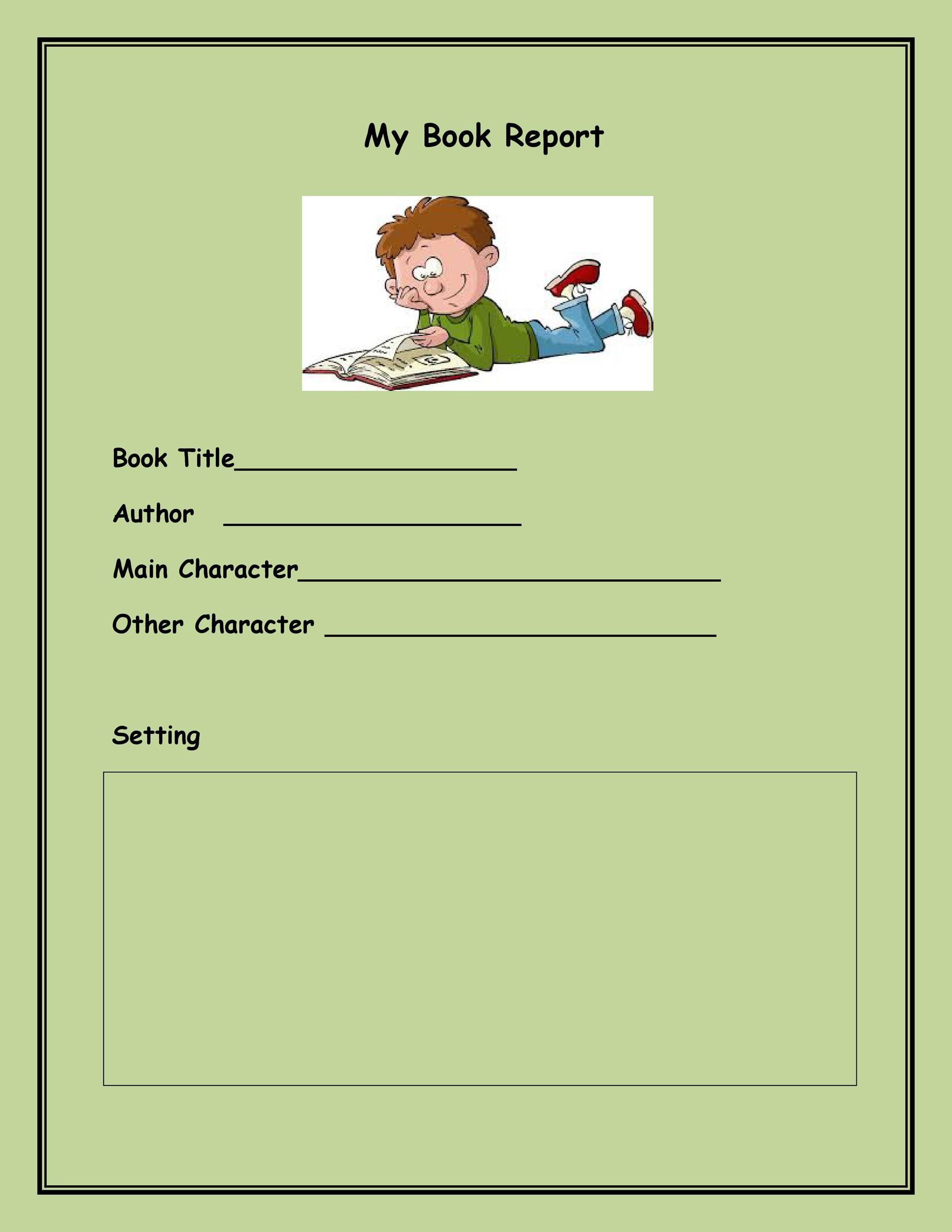 Free Book Report Template 09