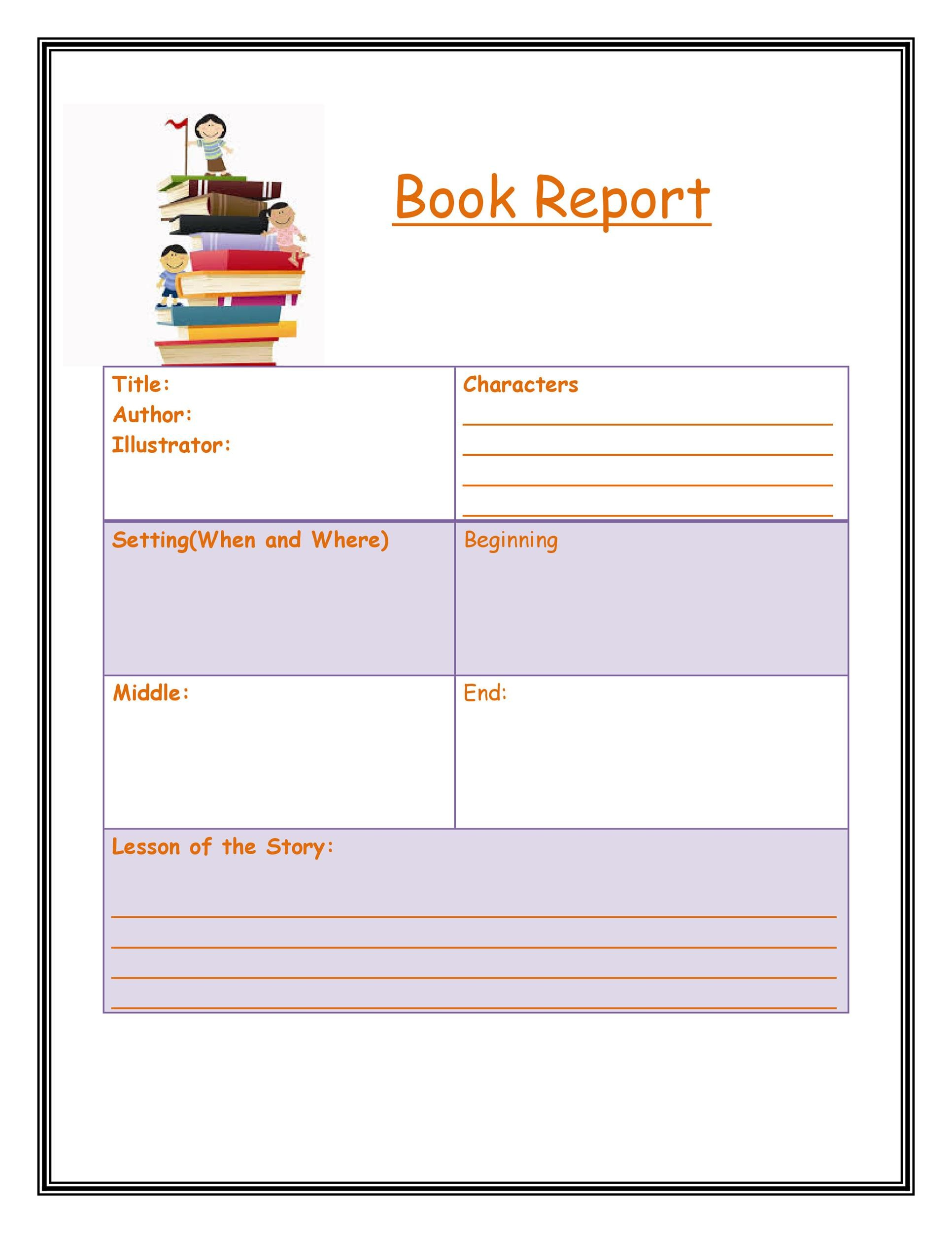 Elegant Printable Book Report Template 10  Printable Book Report Forms