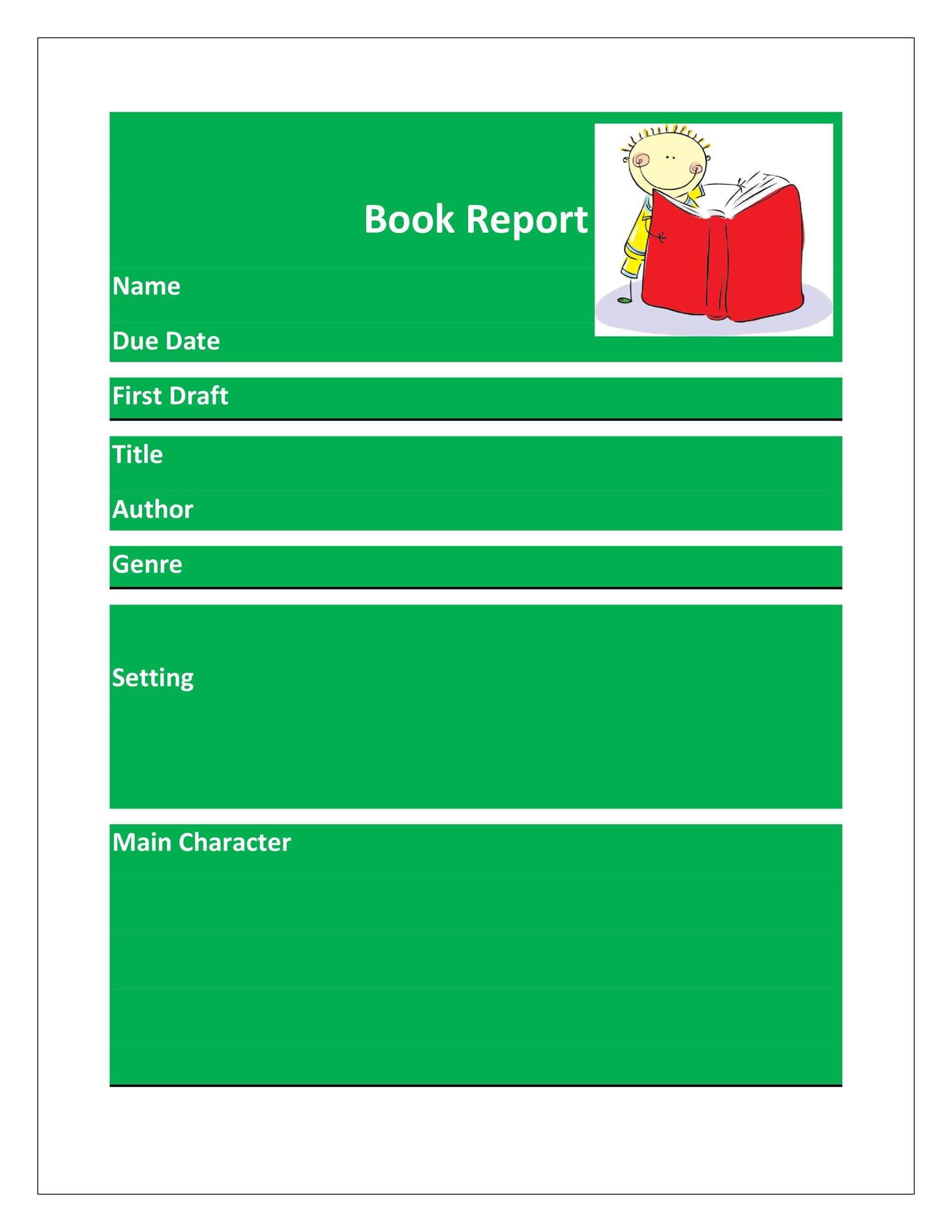 Free Book Report Template 16