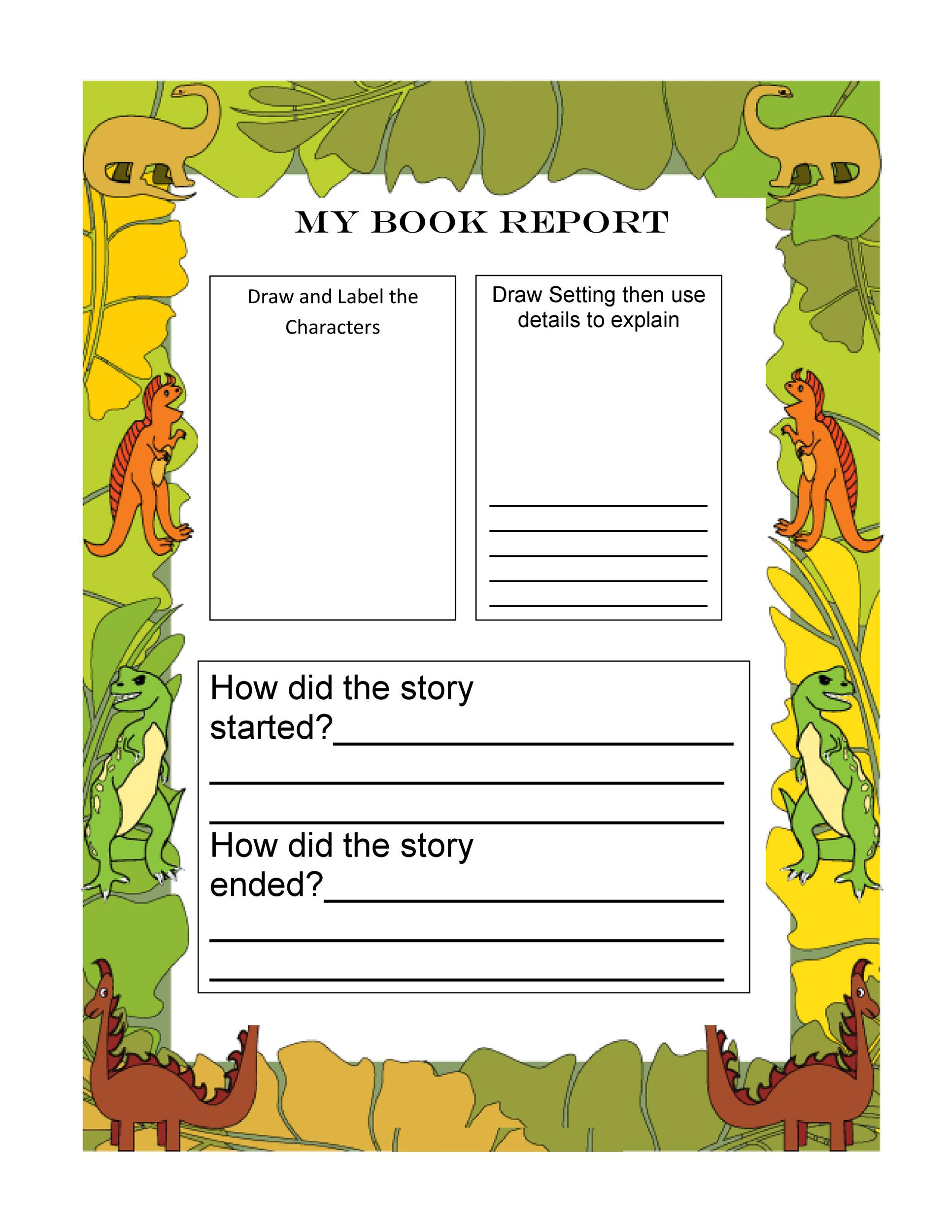 Free Book Report Template 18