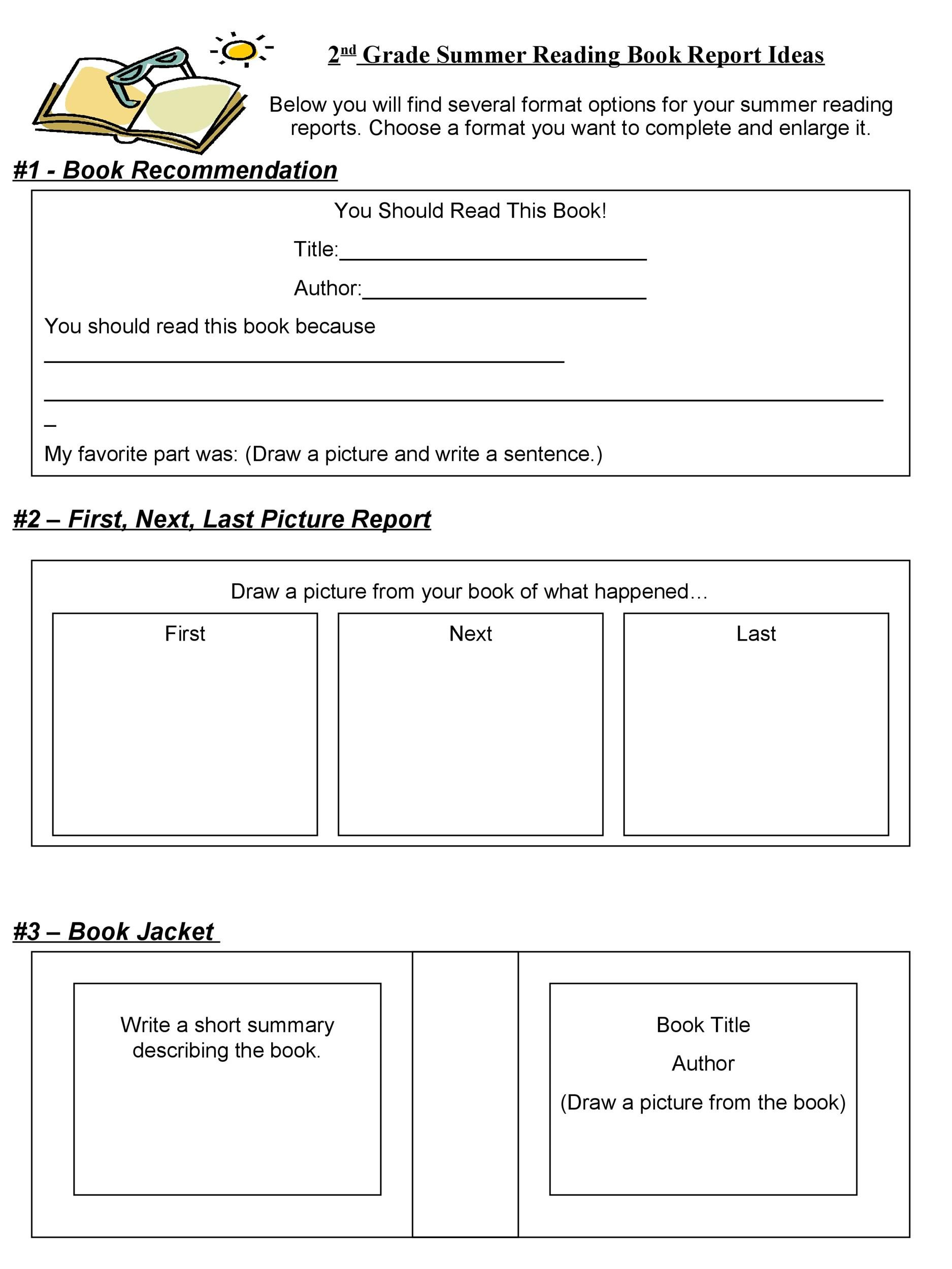 Free Book Report Template 24
