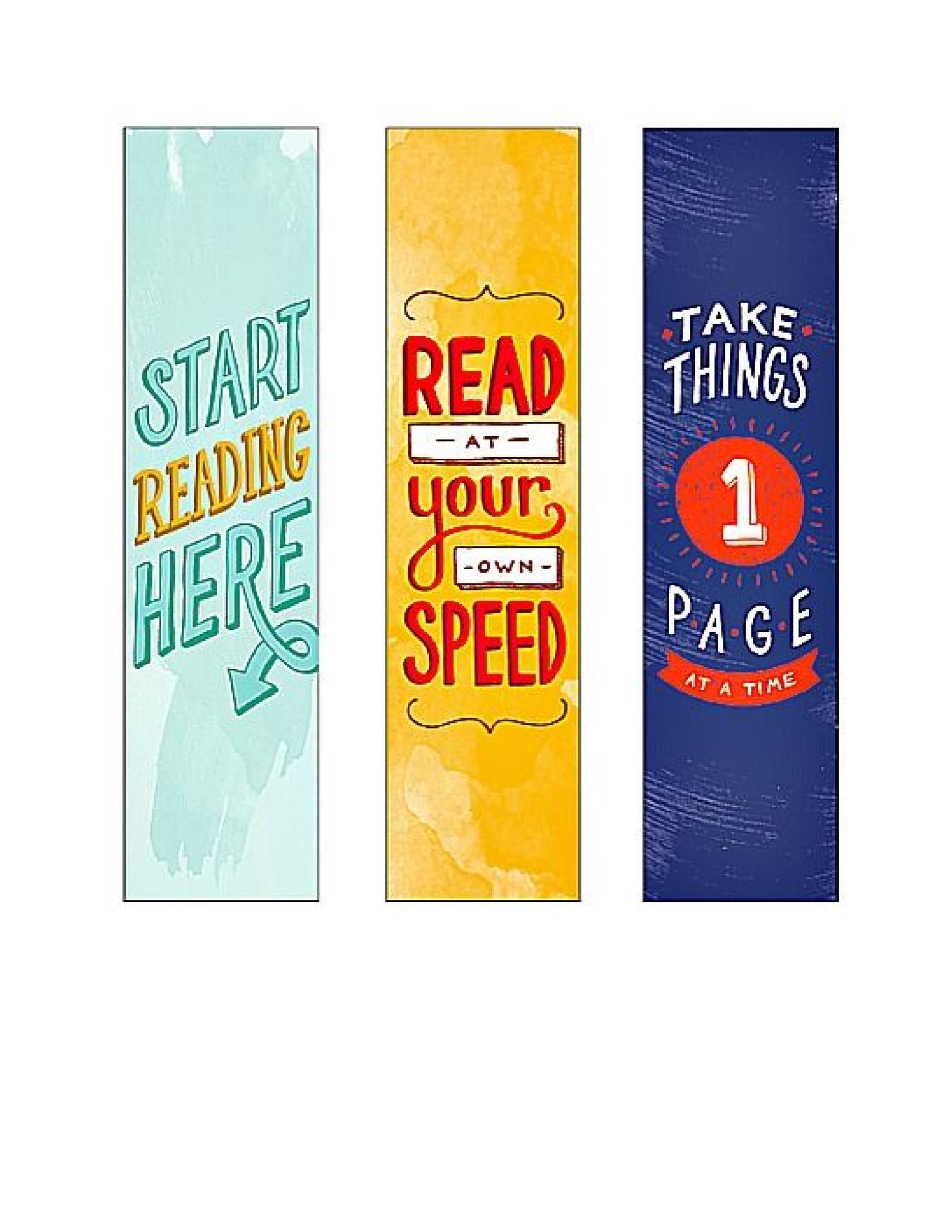 Free Bookmark Template 16