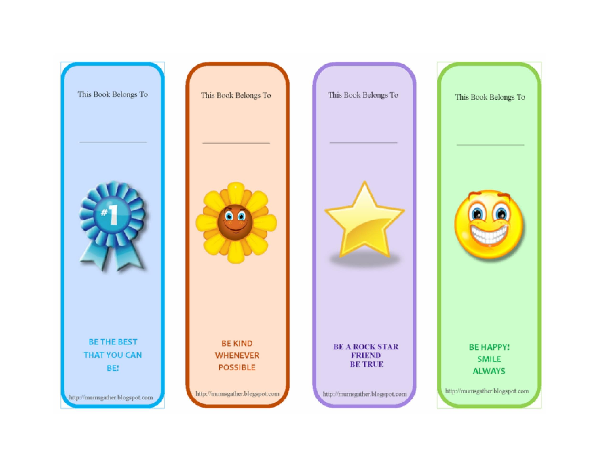 Free Printable Bookmark Templates  Template Lab