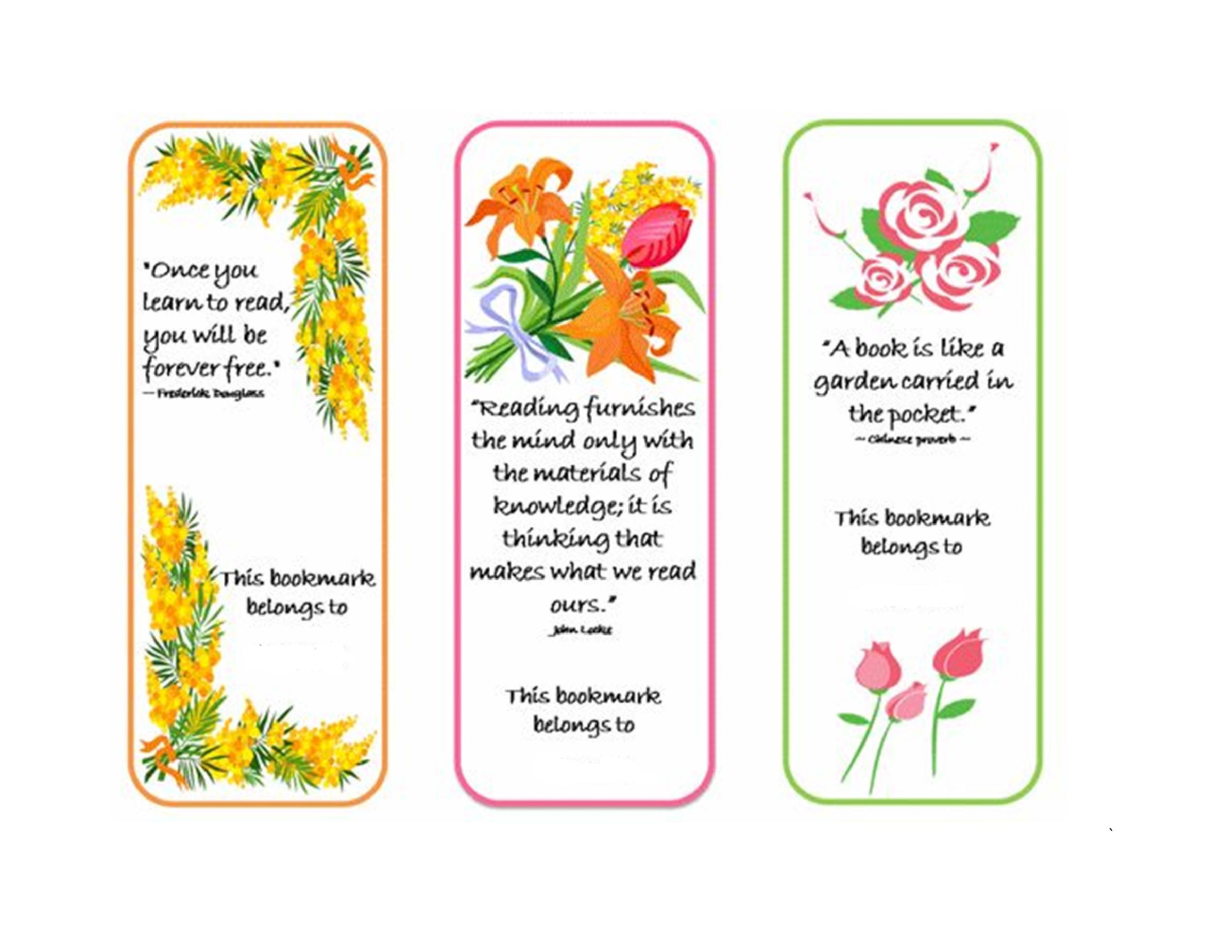 Free Bookmark Template 19