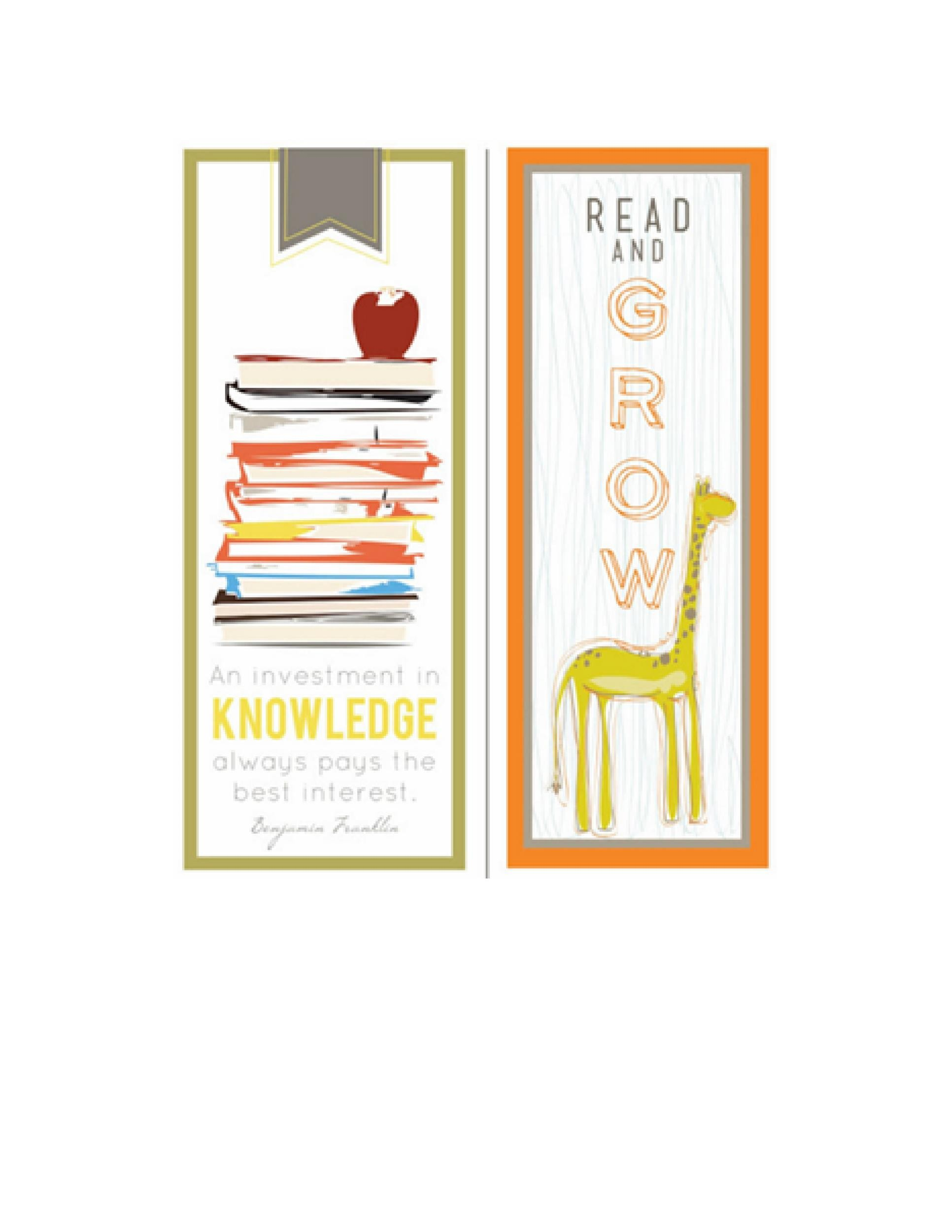 40 Free Printable Bookmark Templates - Template Lab