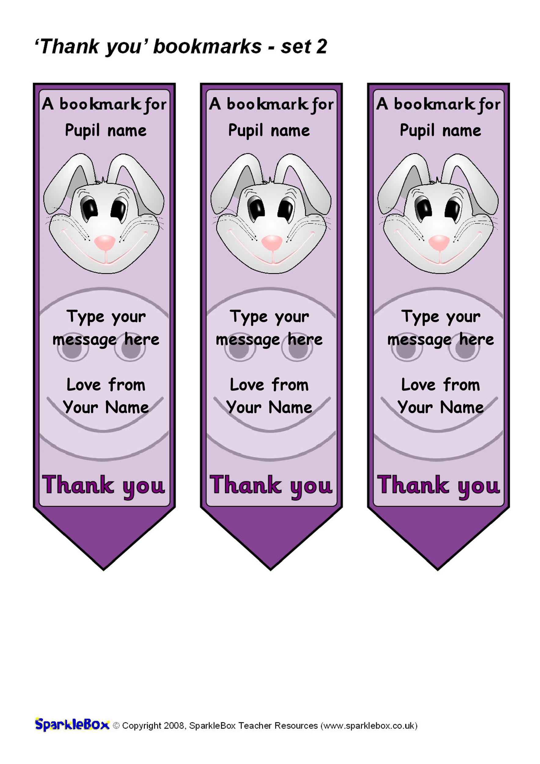 Free Bookmark Template 28
