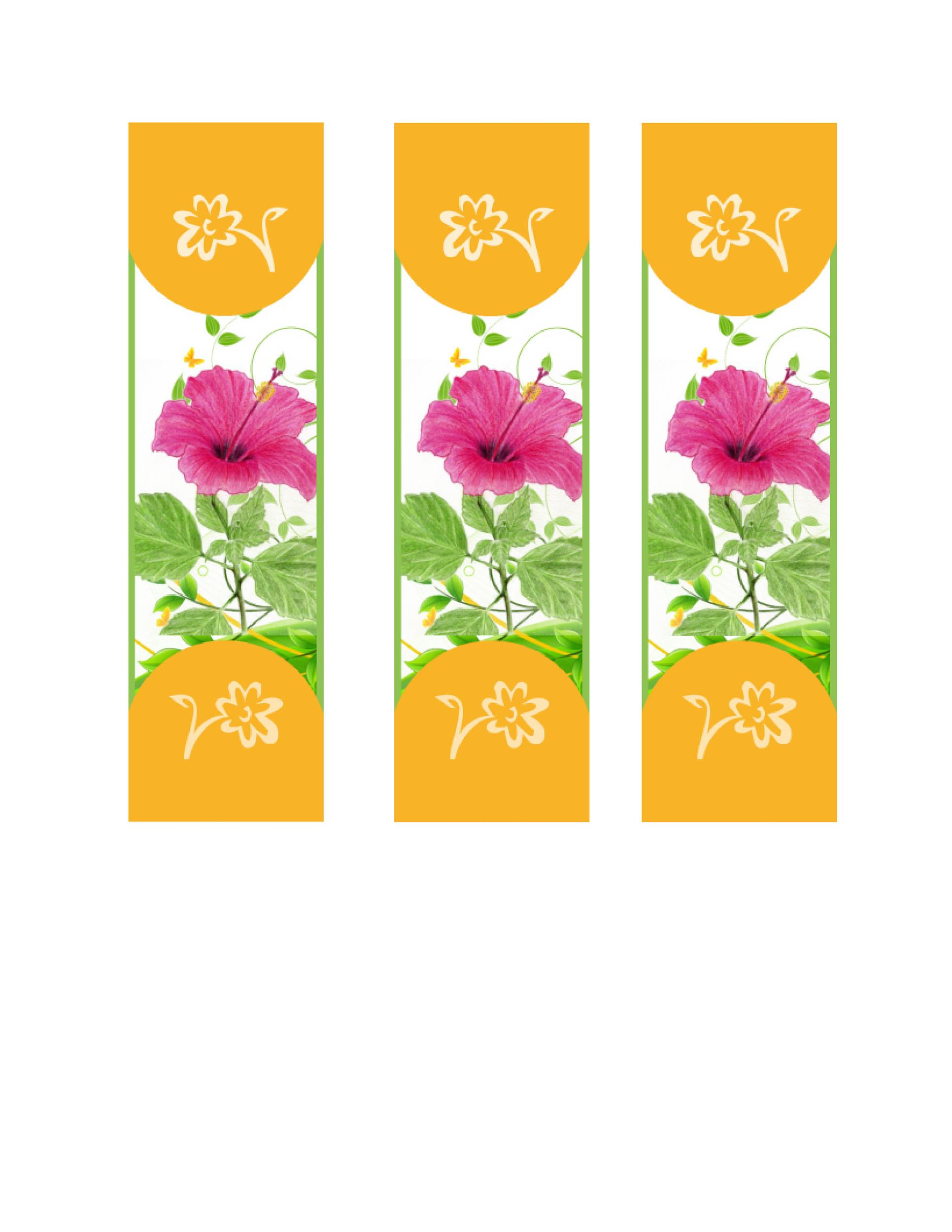 Free Bookmark Template 34