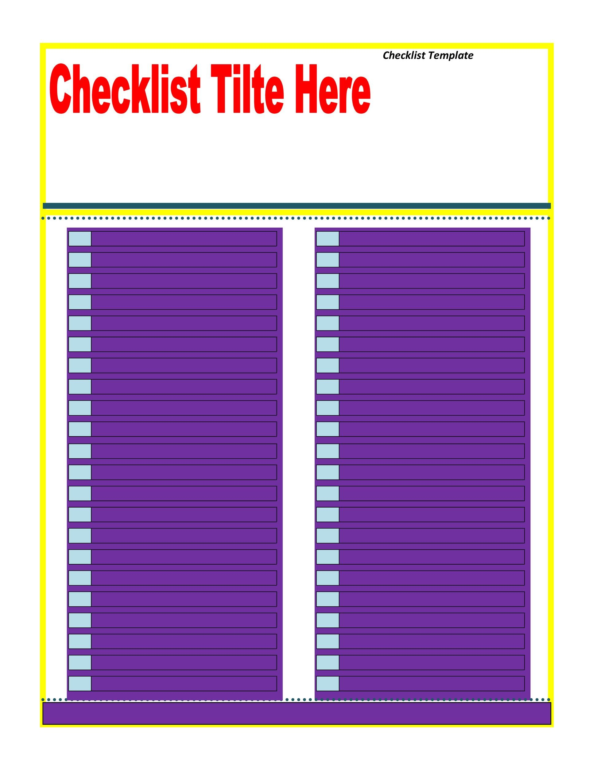 Free Checklist Template 06