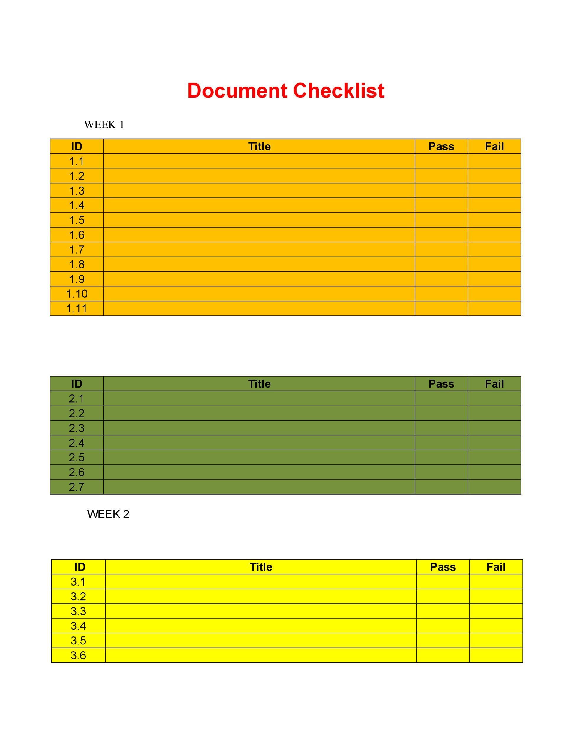Free Checklist Template 10