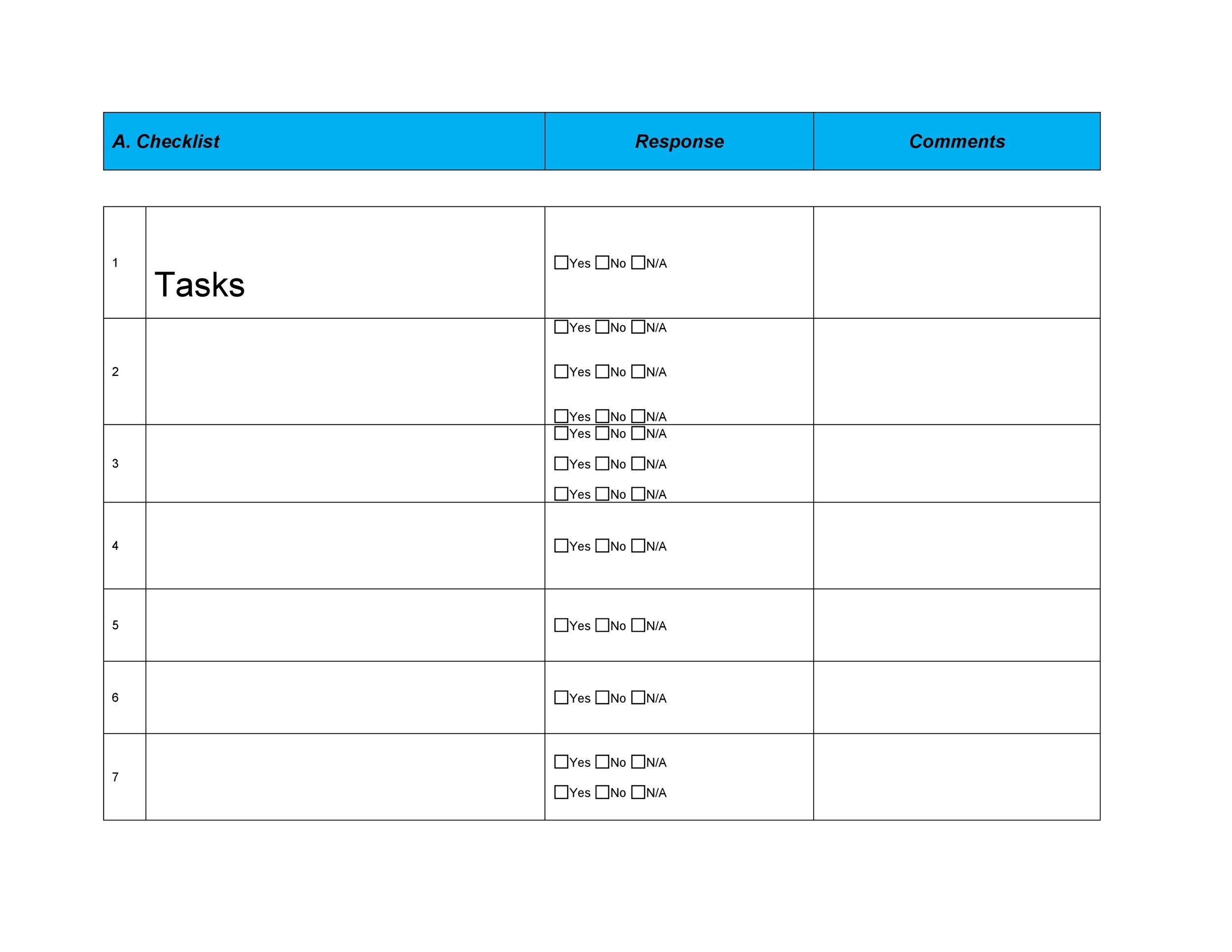 Free Checklist Template 13