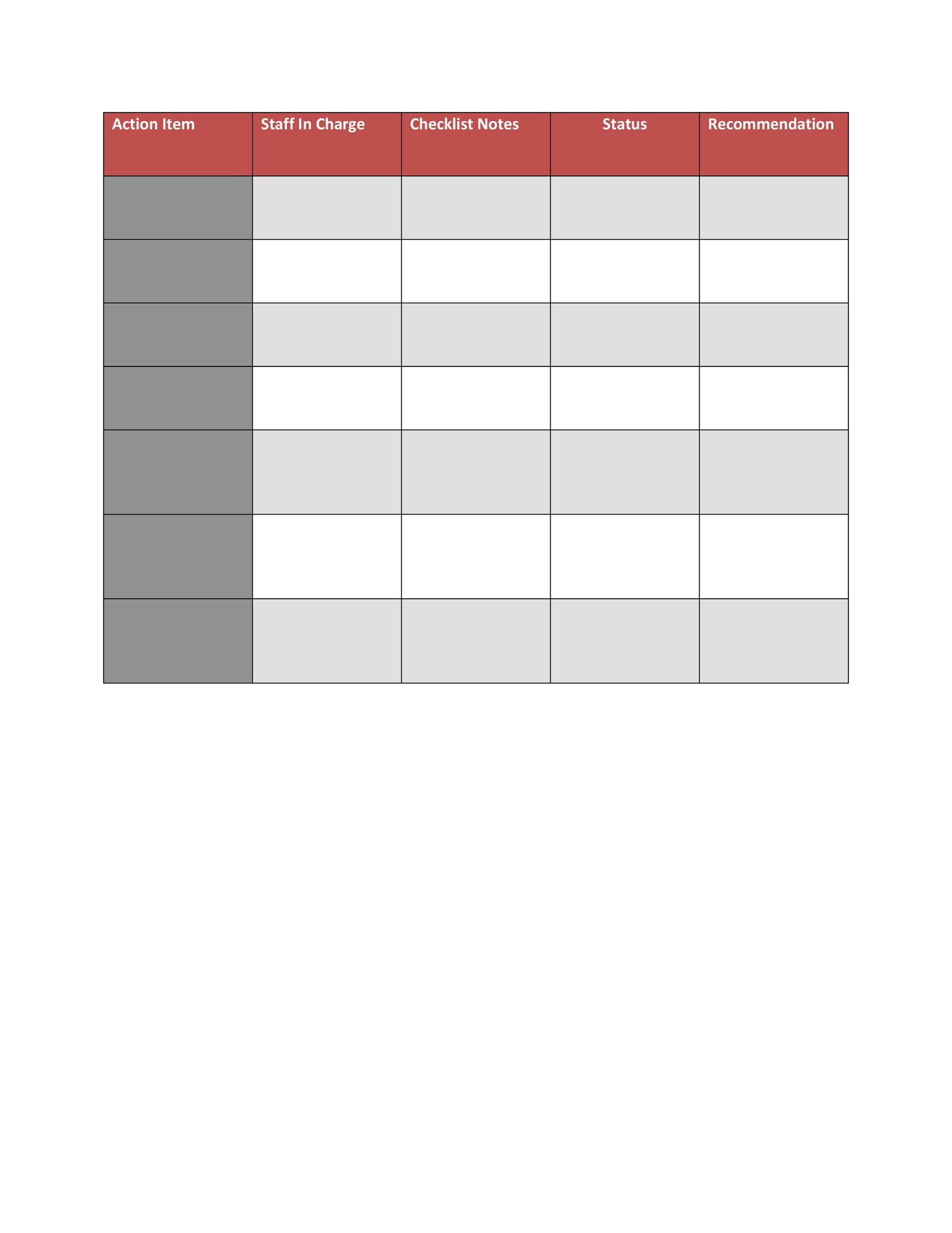 Checklist Template 14