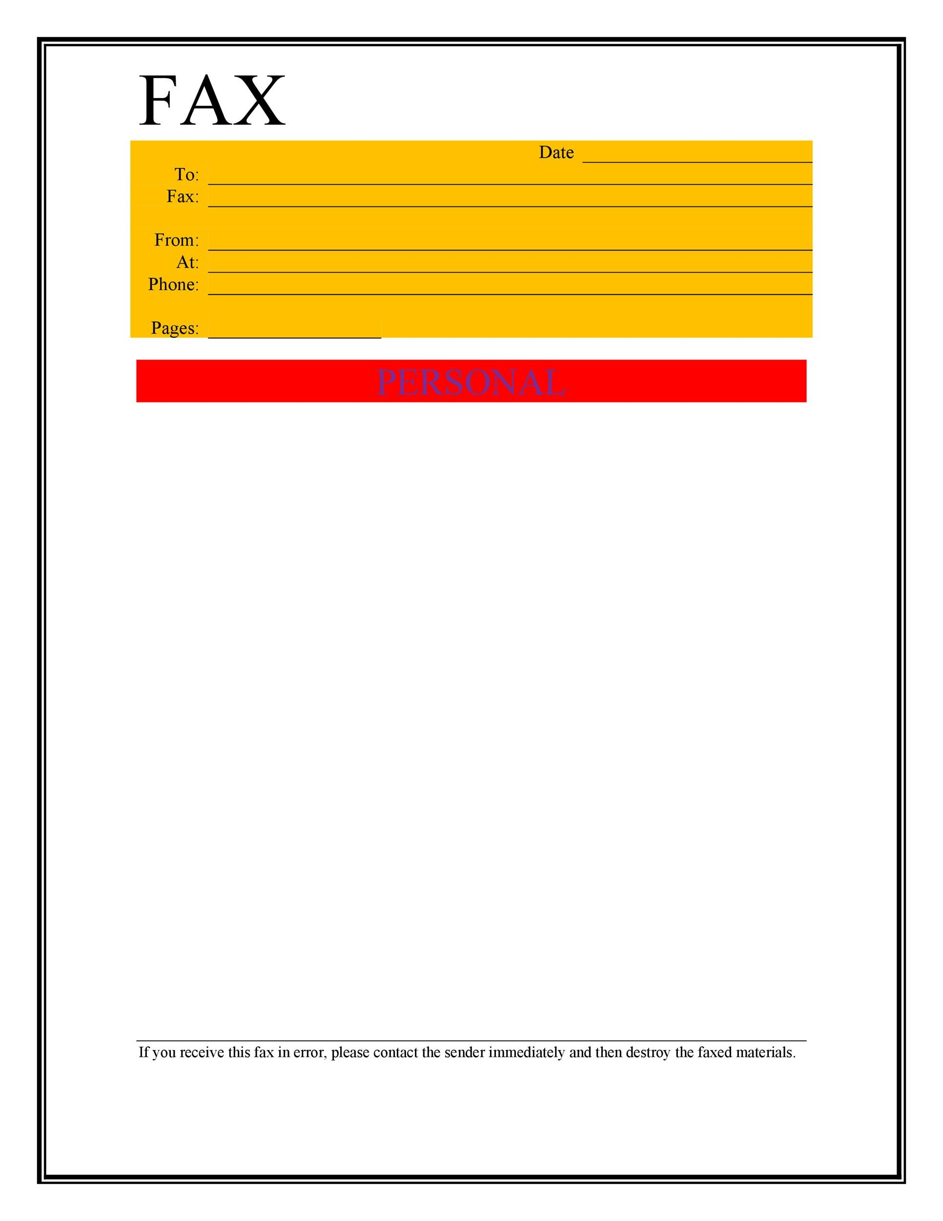 Free Fax Cover Sheet Template 05