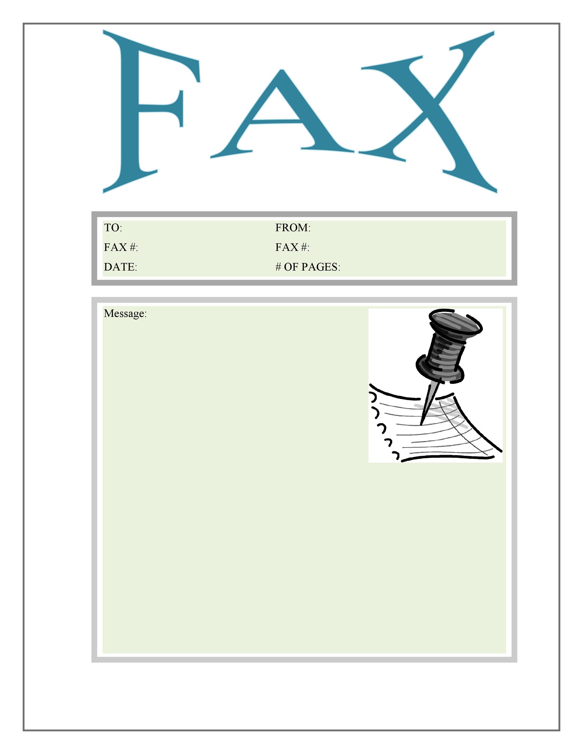 Printable Fax Cover Sheet Templates  Template Lab