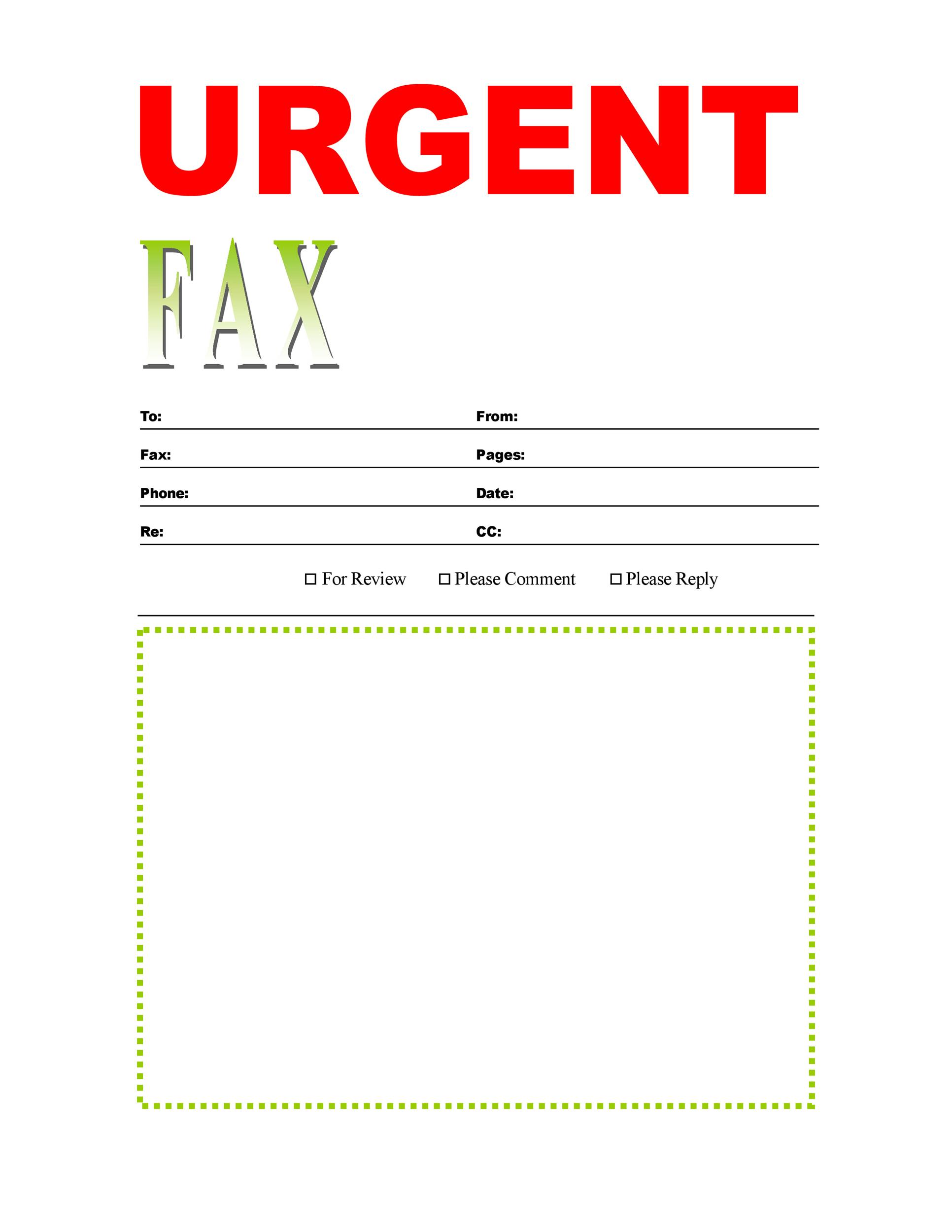 Printable Fax Cover Sheet Template 08  Fax Template Free