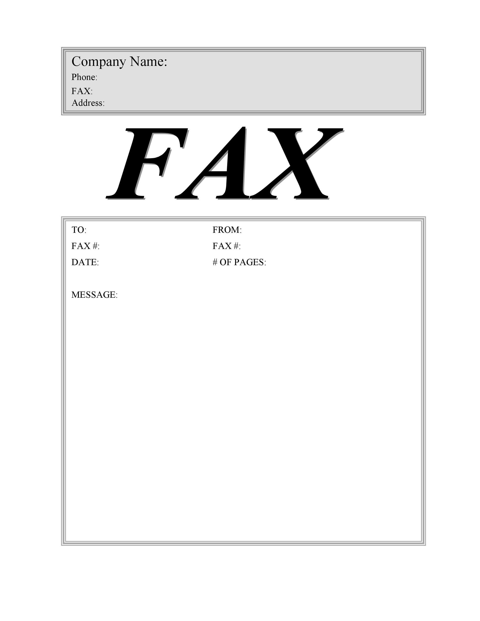 Free Fax Cover Sheet Template 09