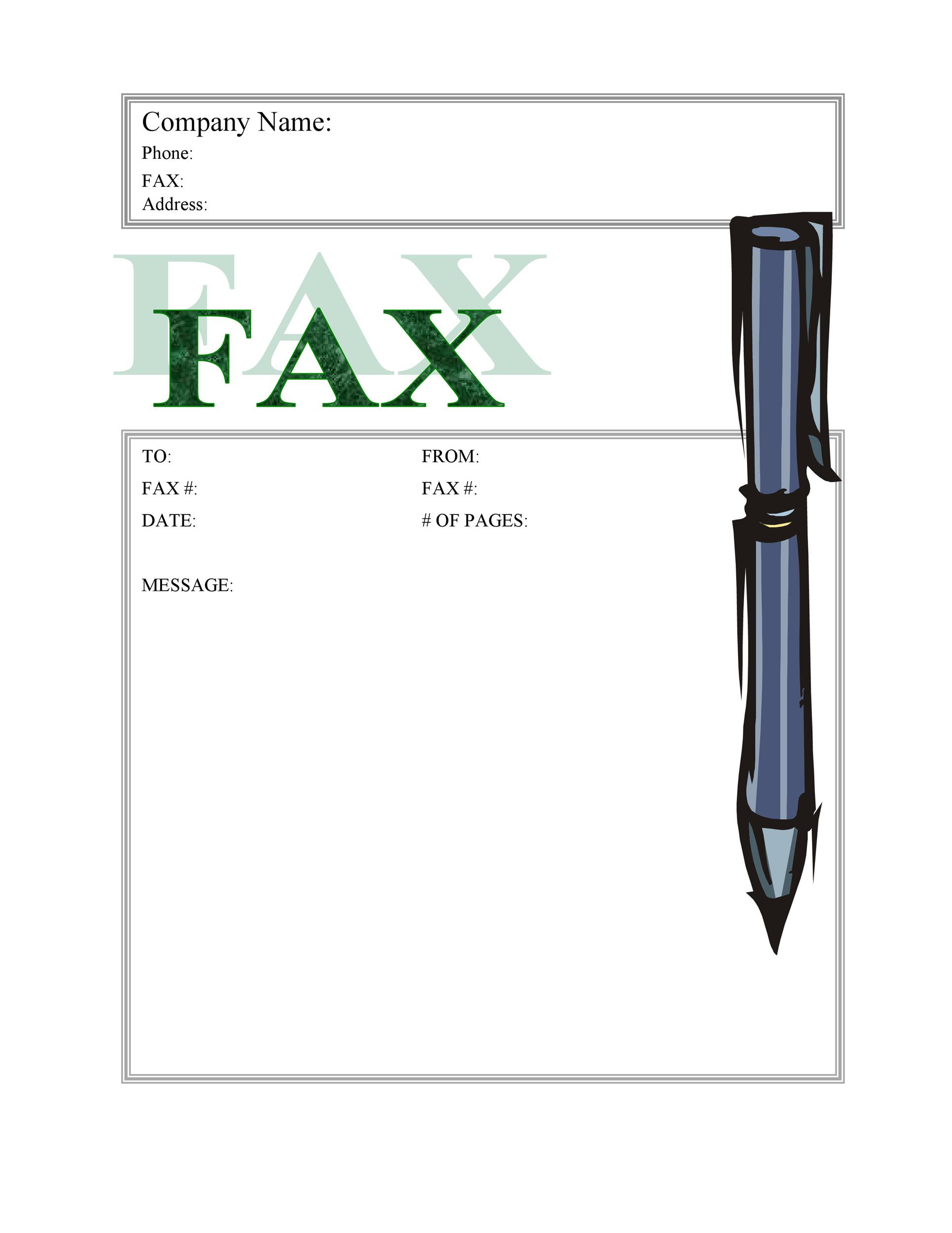 40 Printable Fax Cover Sheet Templates Template Lab – Business Fax Template