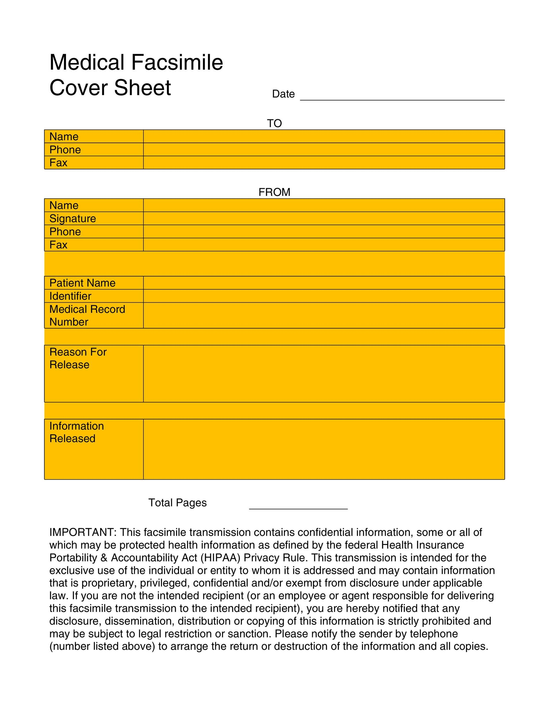 Free Fax Cover sheet Template 15