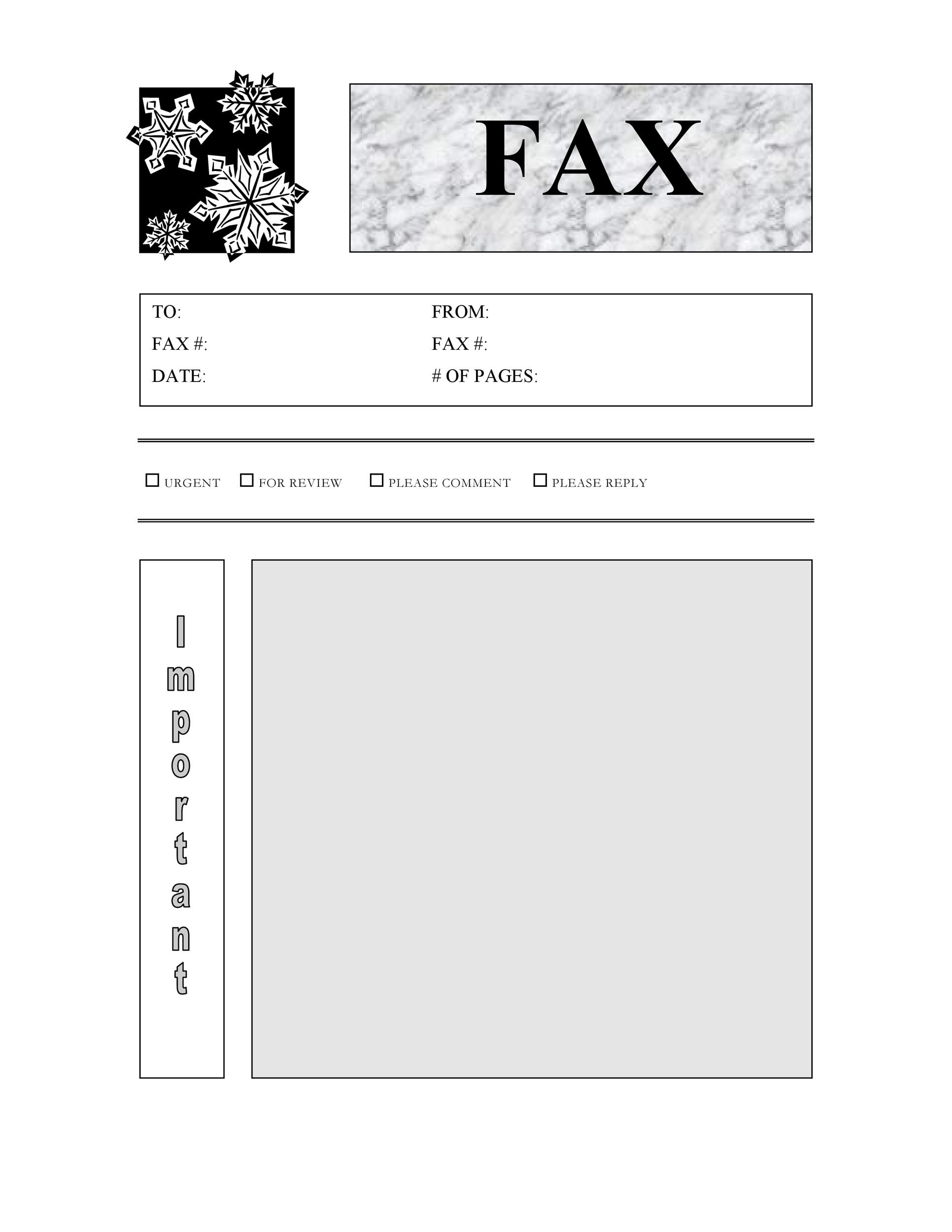 40 printable fax cover sheet templates template lab. Black Bedroom Furniture Sets. Home Design Ideas