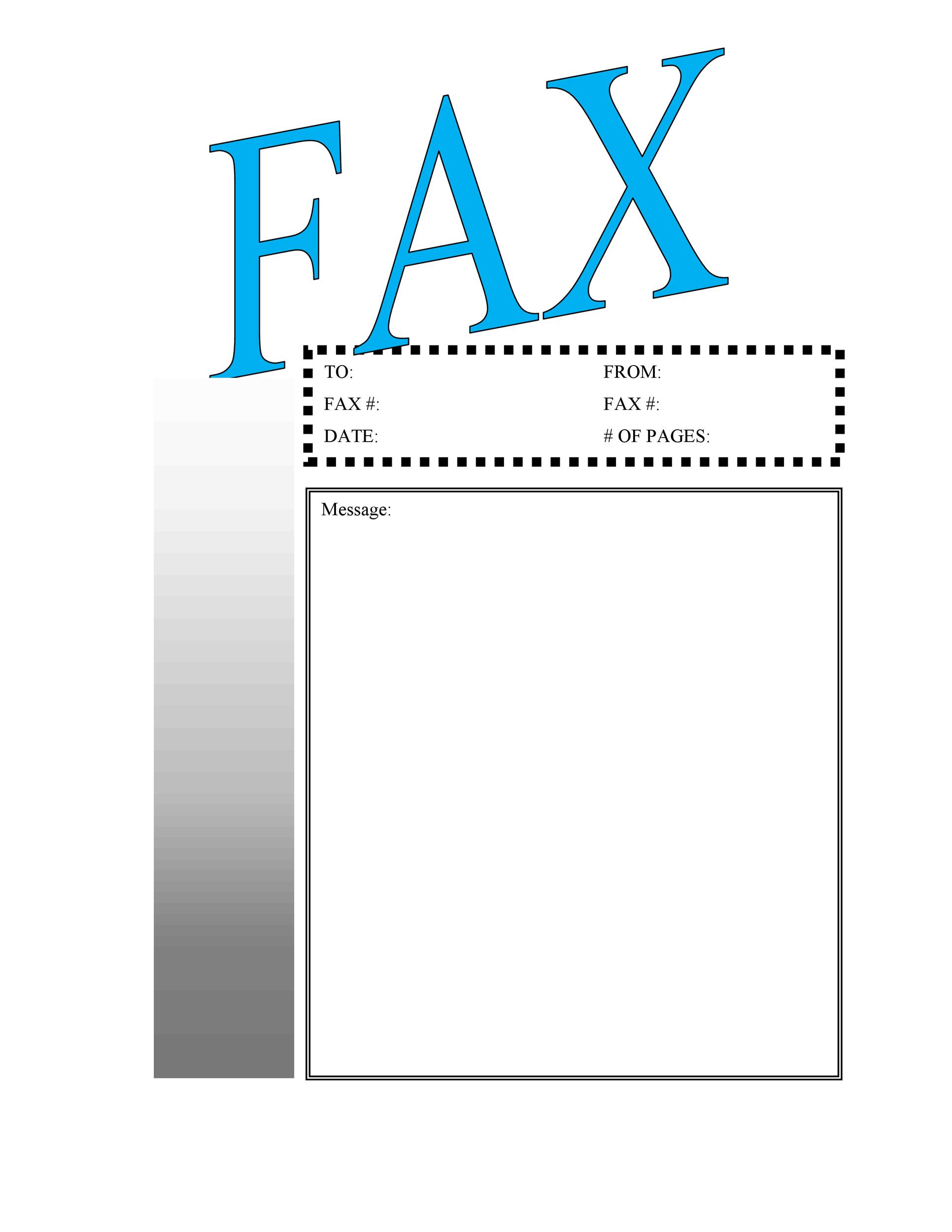 Free Fax Cover sheet Template 17