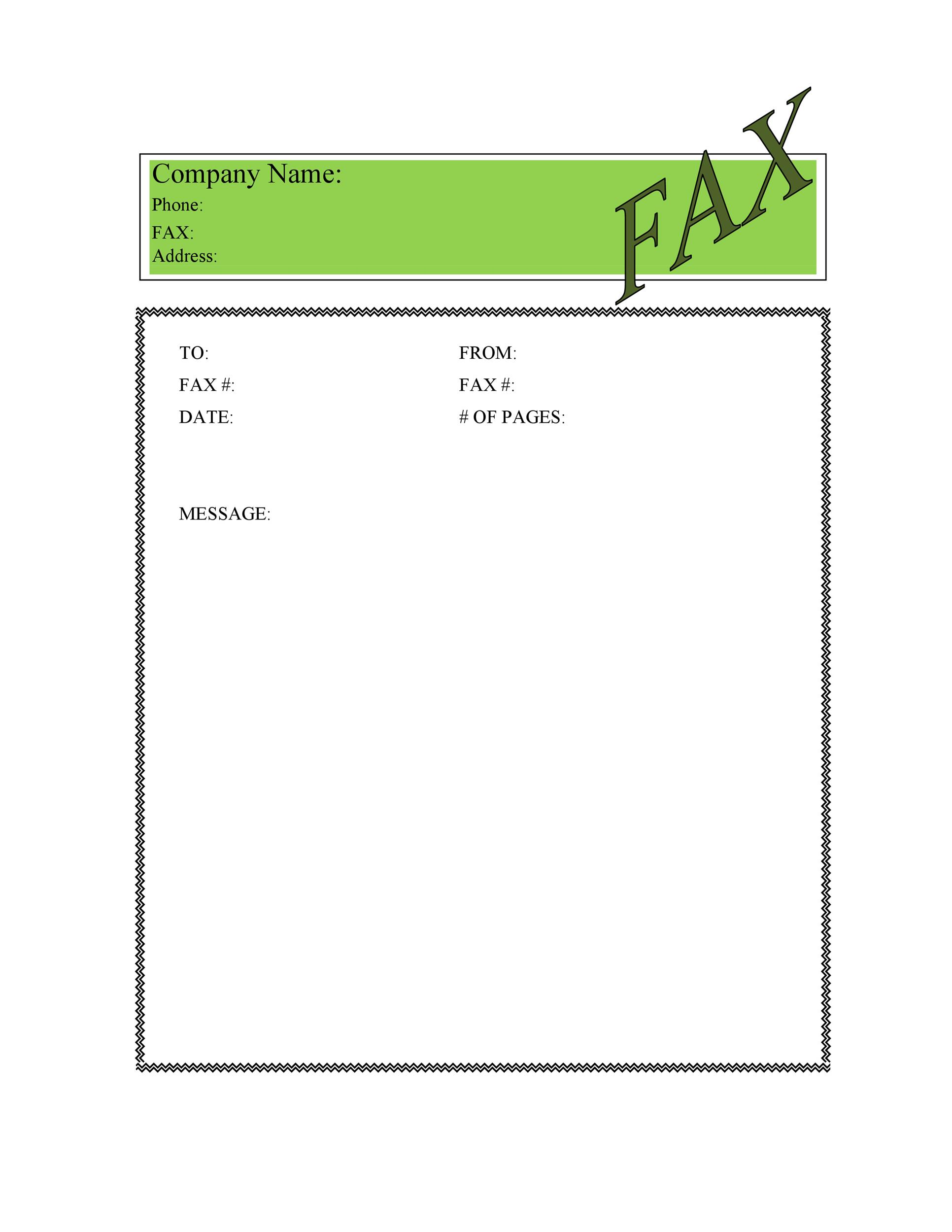 Free Fax Cover sheet Template 19