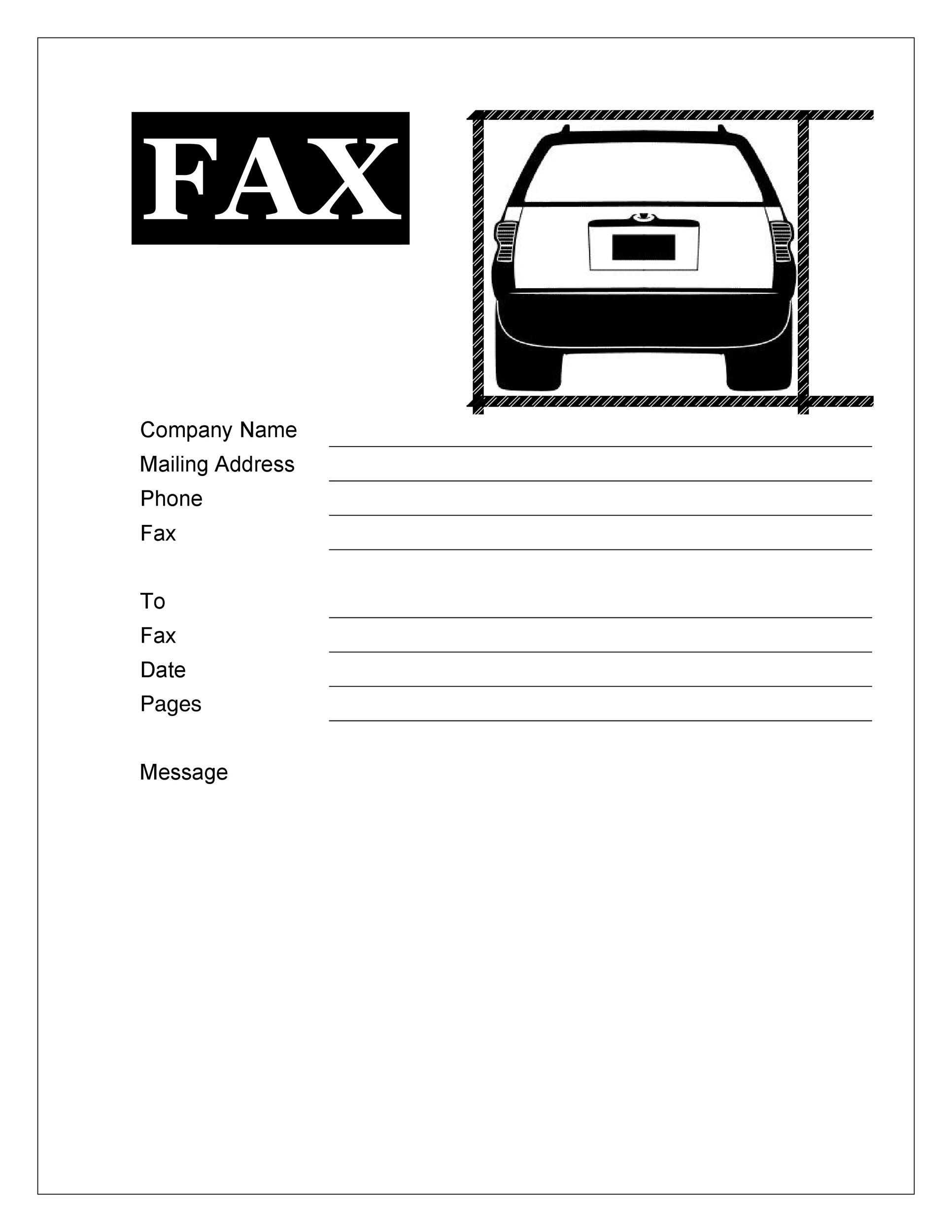 Fax Cover Sheet Template 20