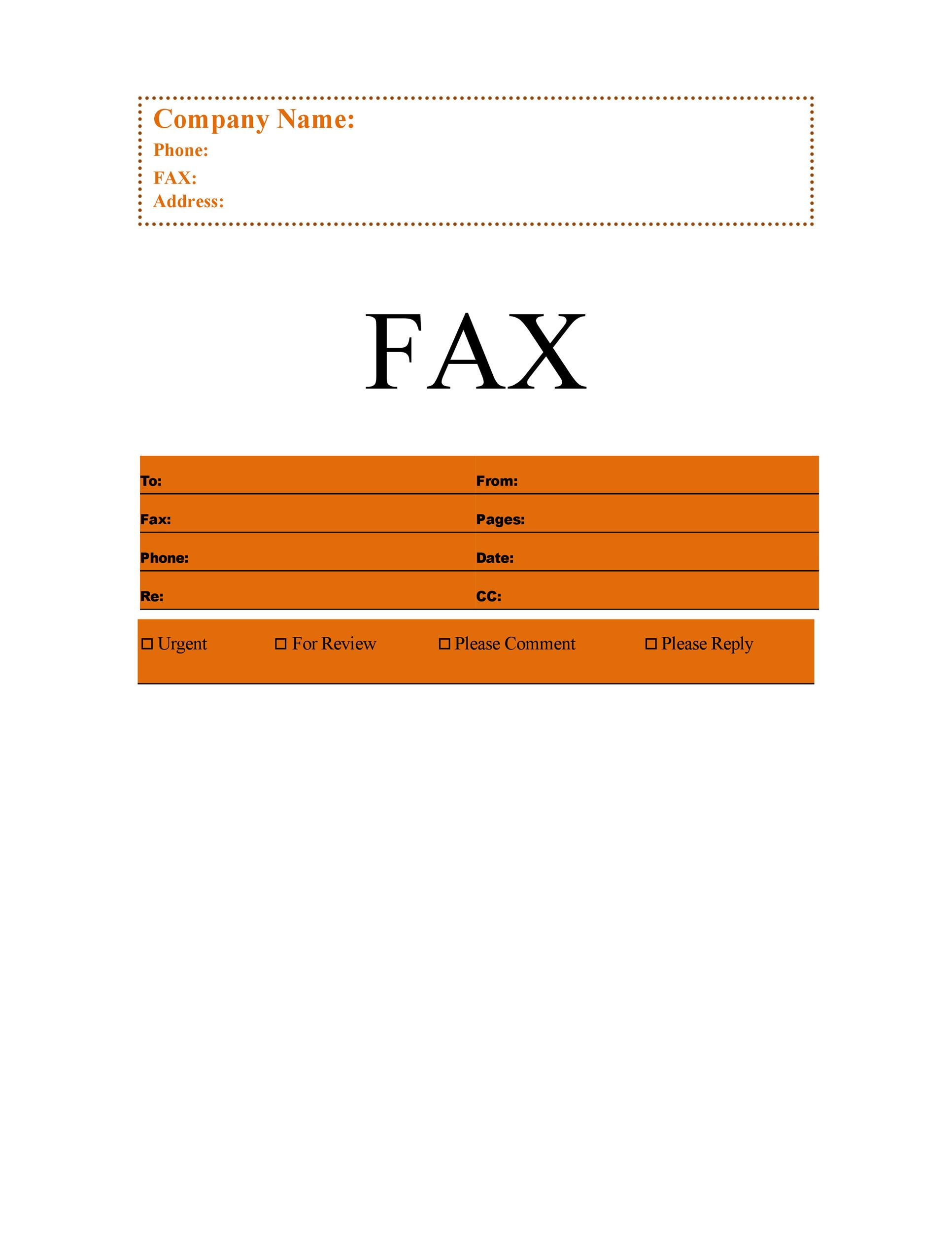 Fax Cover Sheet Template 23