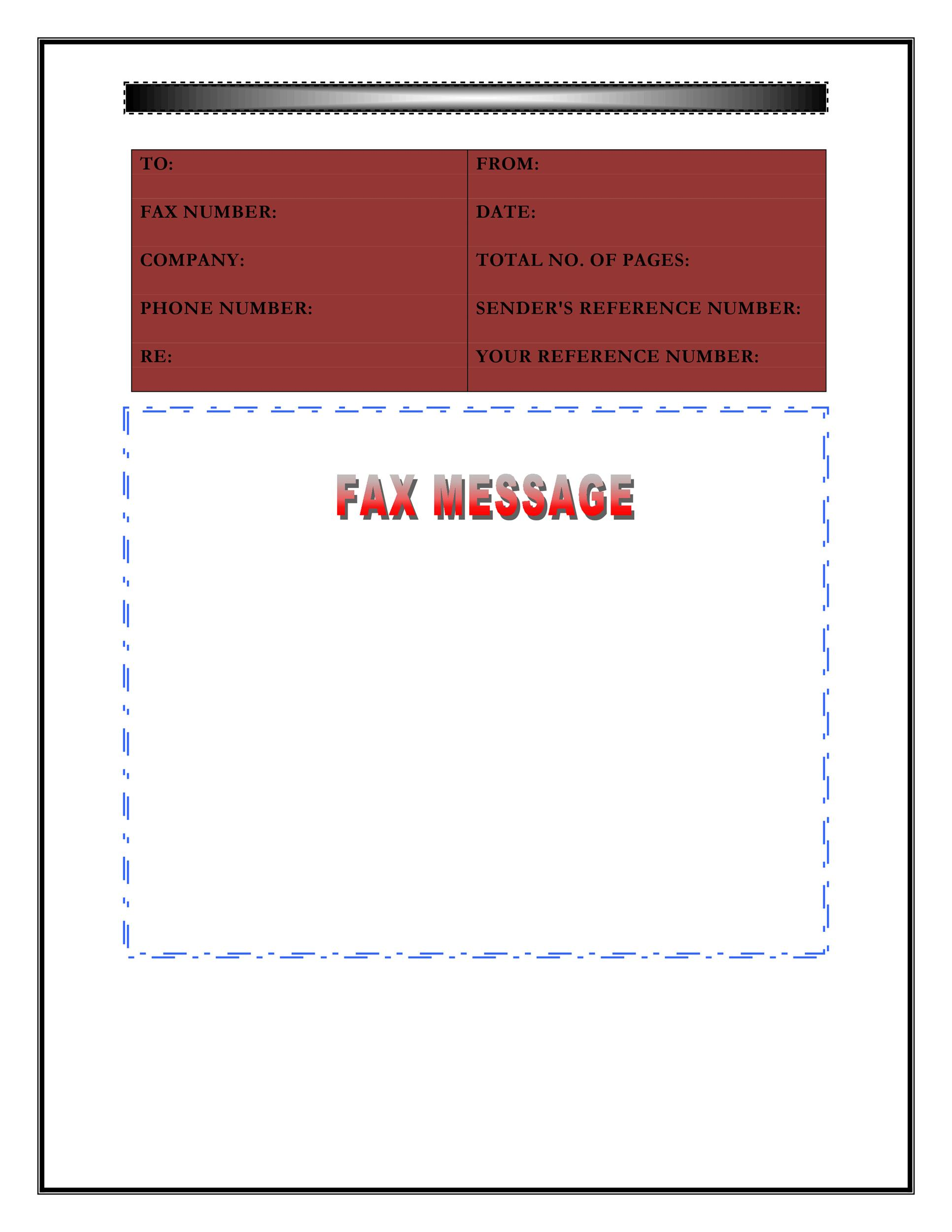 Fax Cover Sheet Template 25