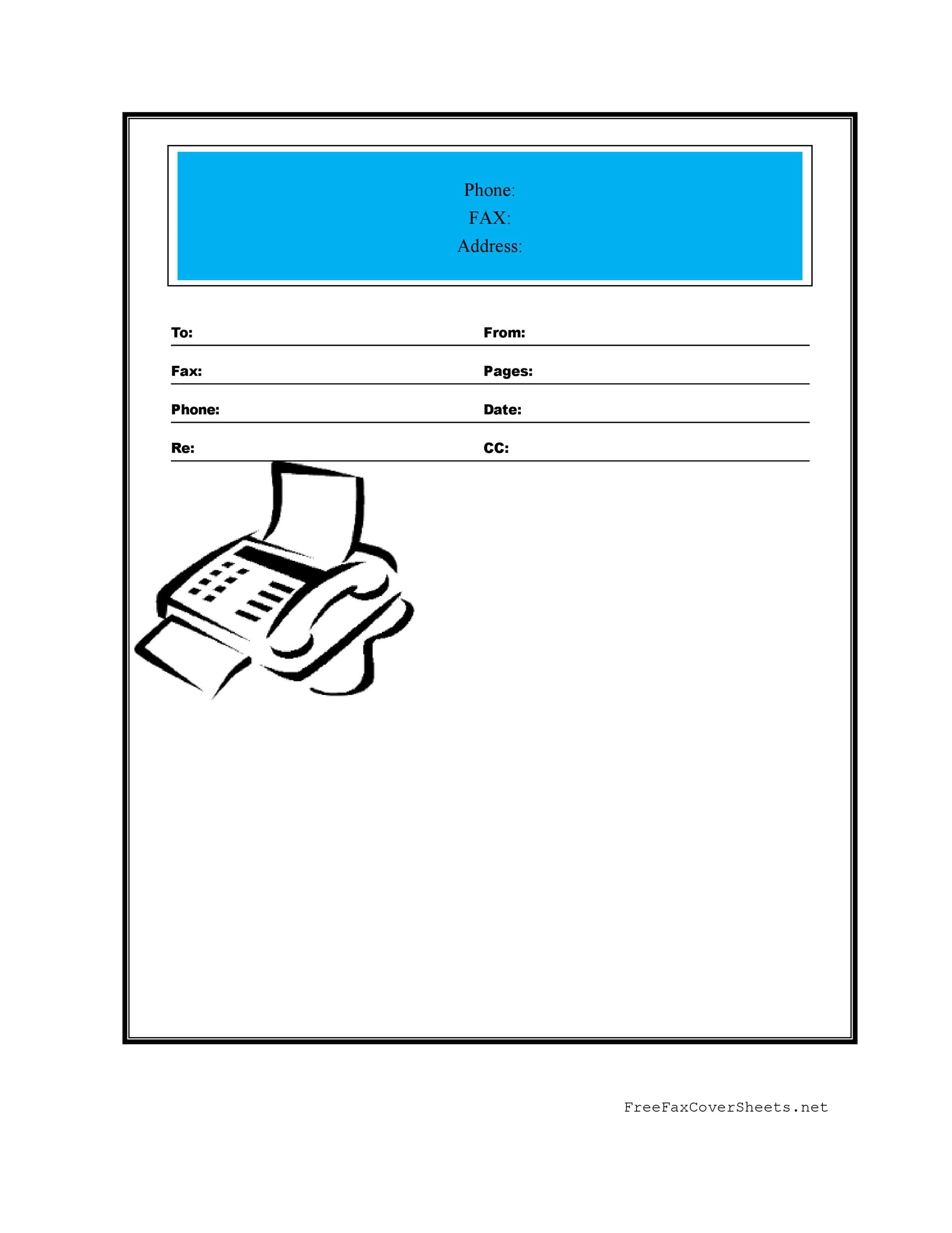 Fax Cover Sheet Template 26