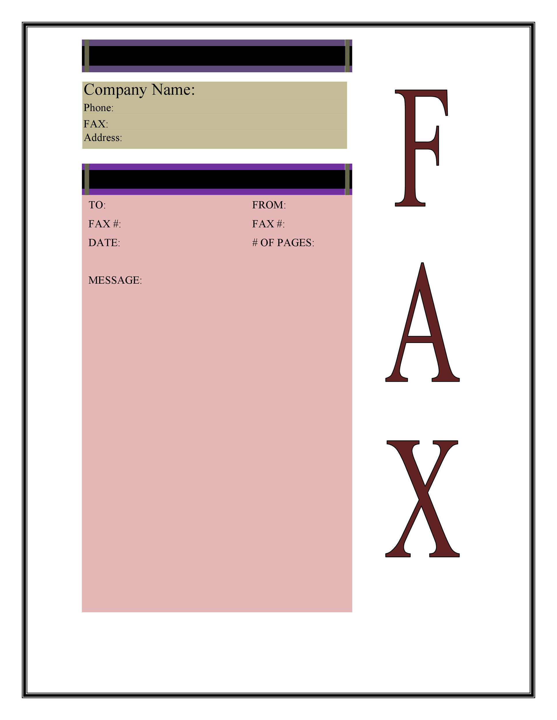Fax Cover Sheet Template 27