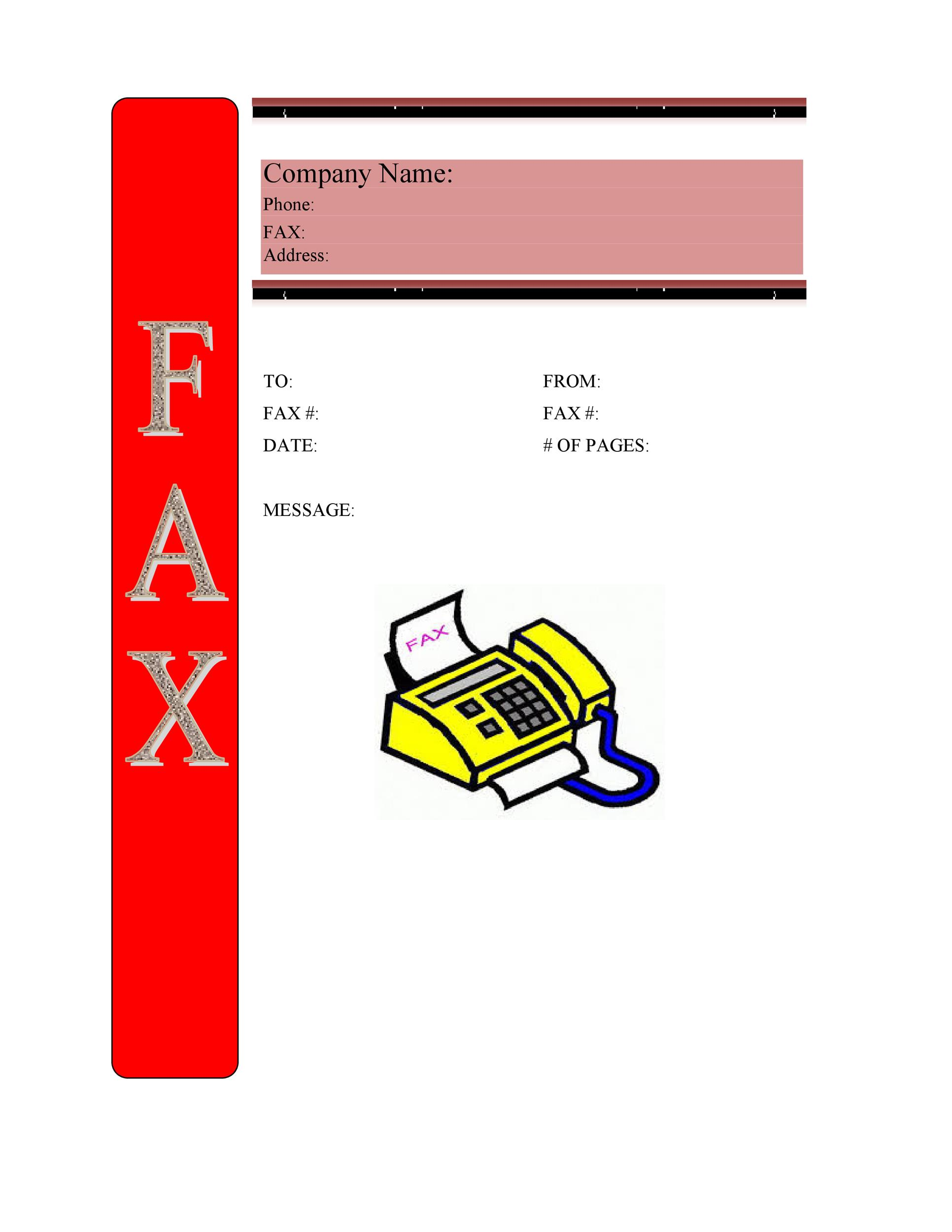 Free Fax Cover sheet Template 32
