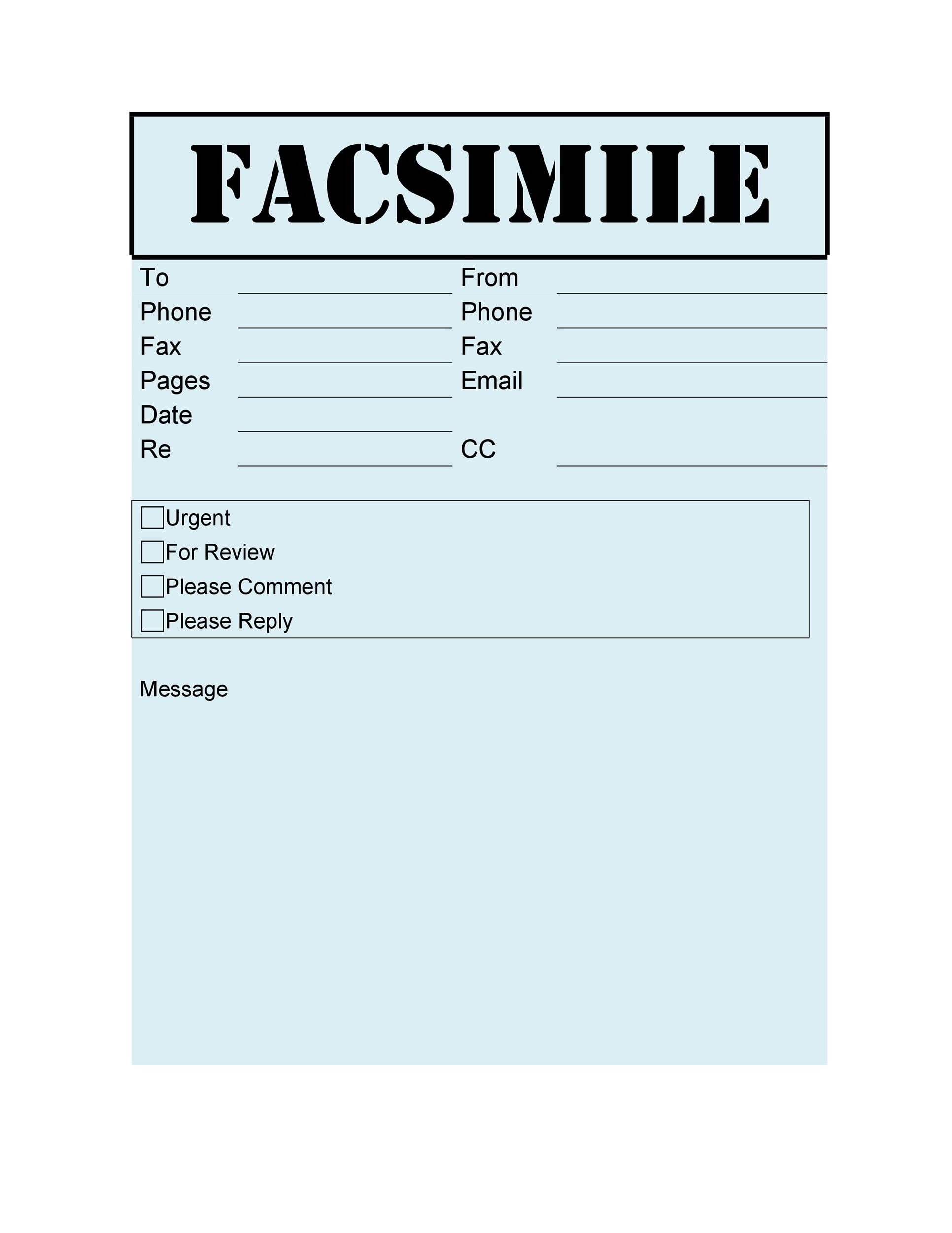 Fax Cover Sheet Template 34
