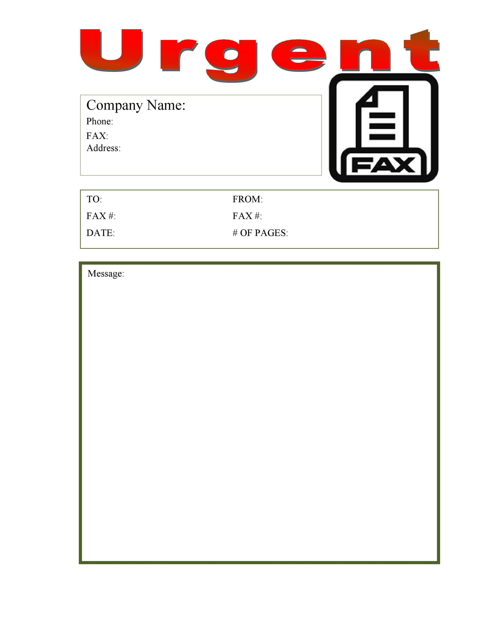 Free Fax Cover sheet Template 35