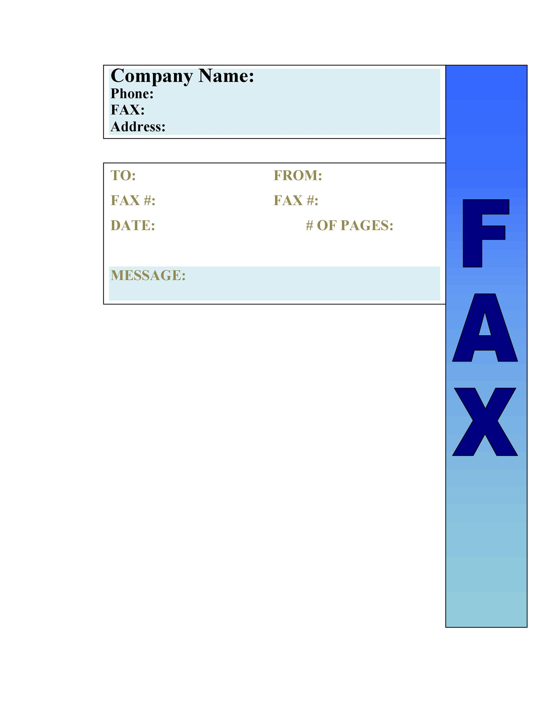 Free Fax Cover sheet Template 37
