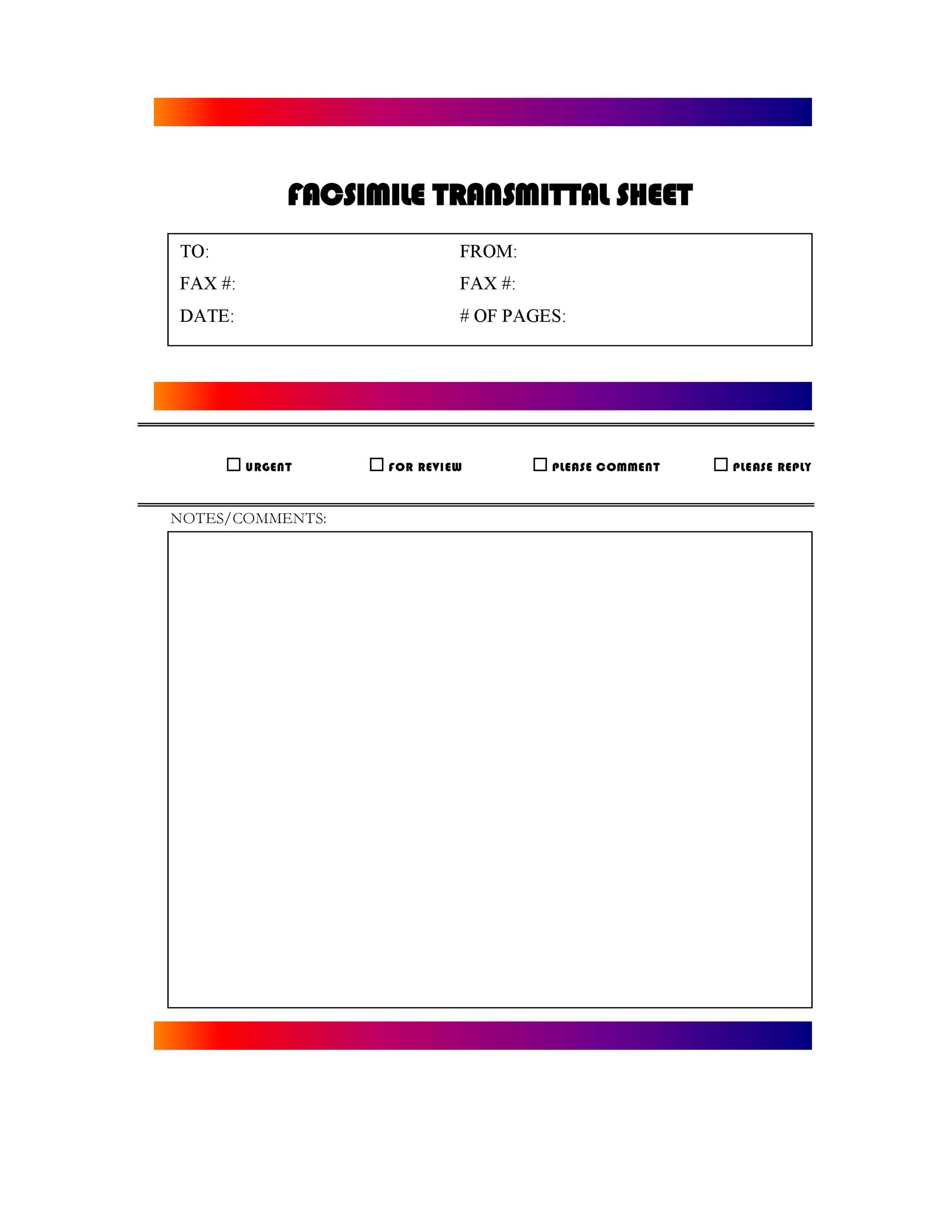 Free Fax Cover sheet Template 39