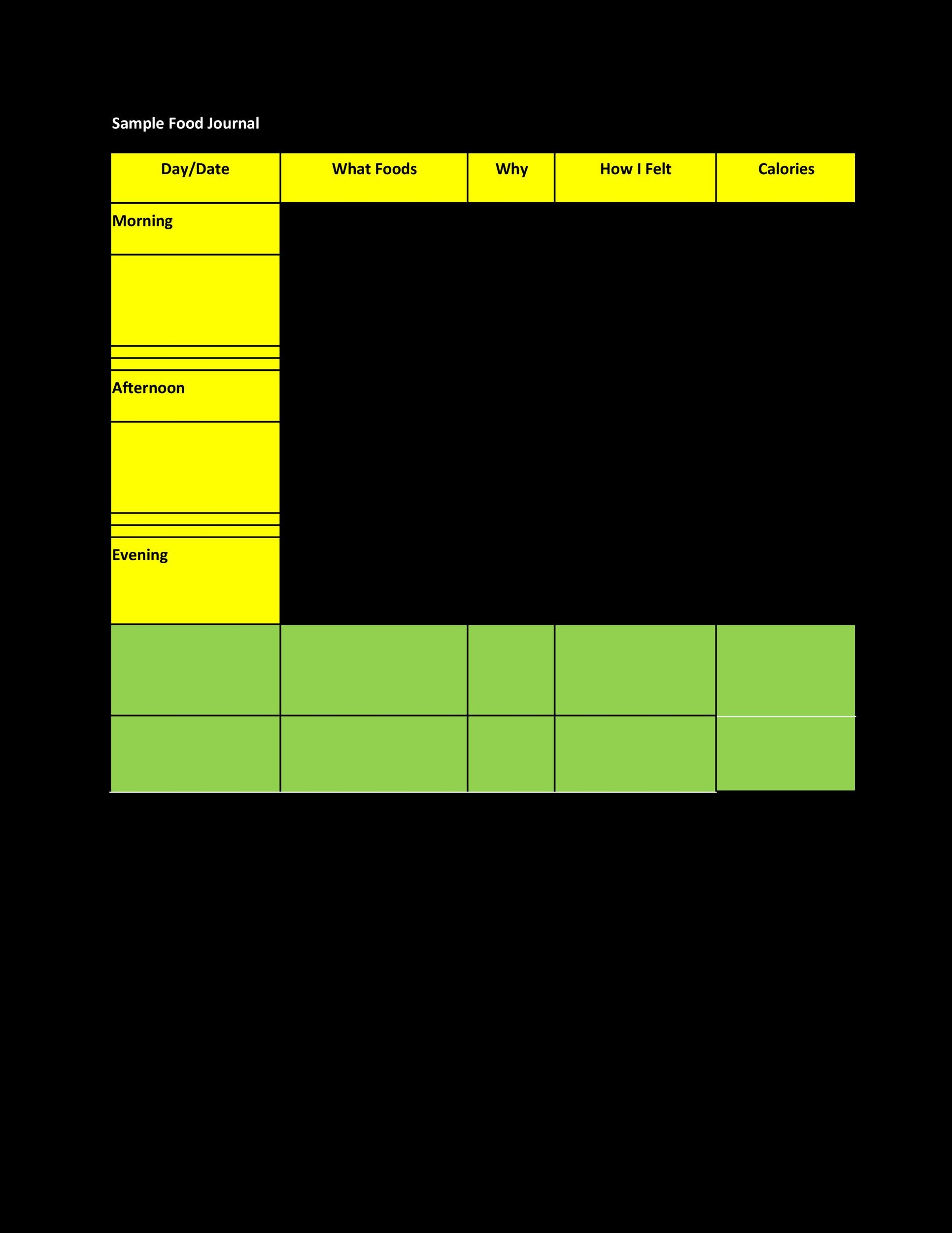 Food Diary Template 36 Template Lab